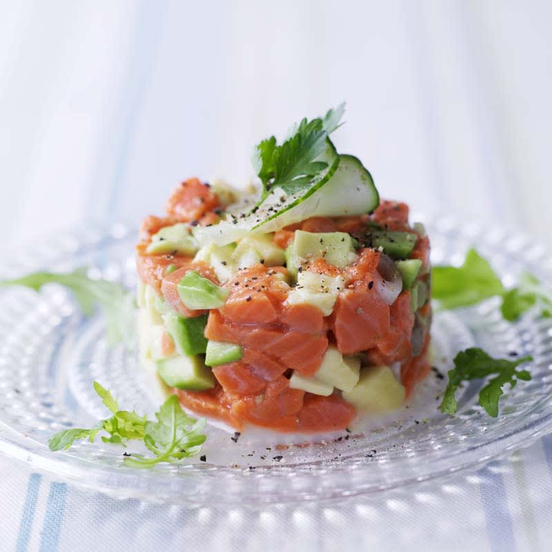 Photo of Salmon, cucumber and avocado timbales by WW