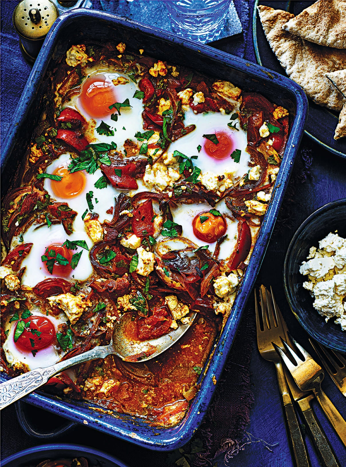 Photo of Baked Eggs with Harissa and Feta by WW