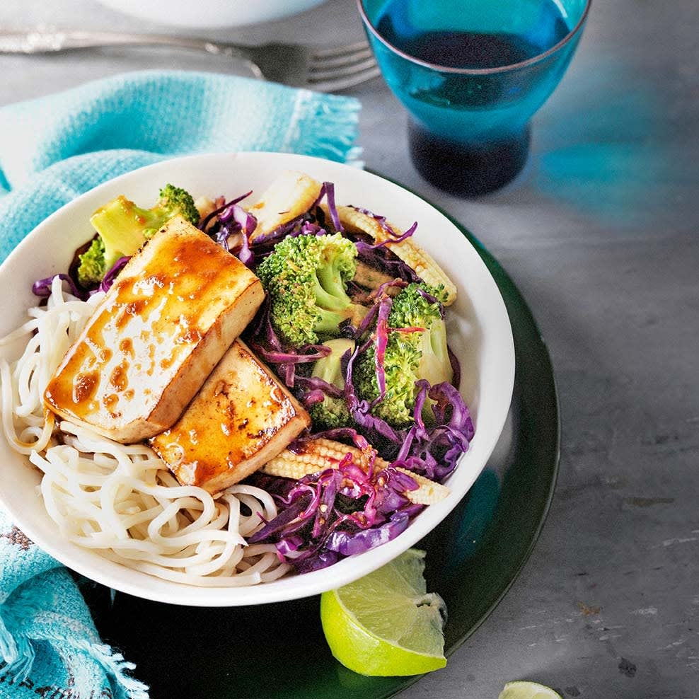 Photo of Honey, lime & ginger tofu with stir fried greens by WW