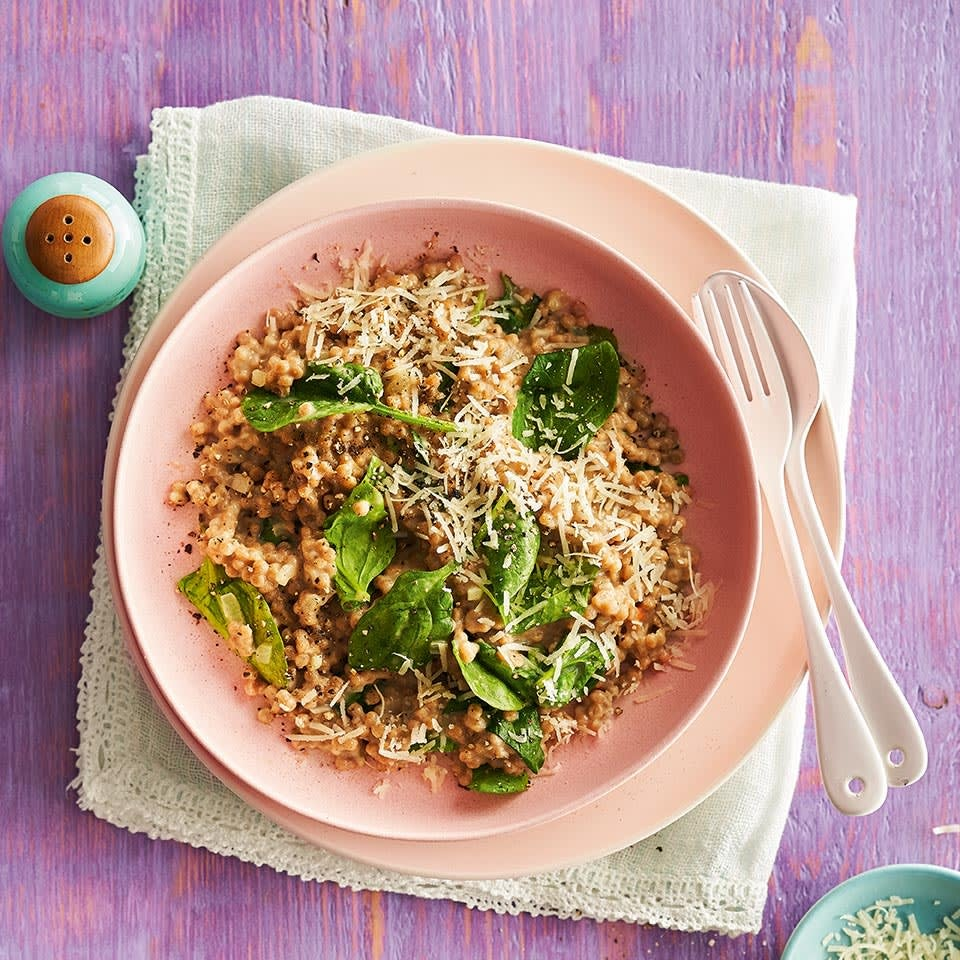 Photo of Giant couscous risotto with spinach by WW
