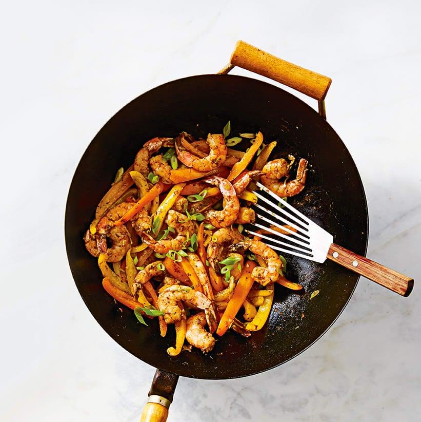 Photo of Stir-fried jerk prawns & peppers by WW
