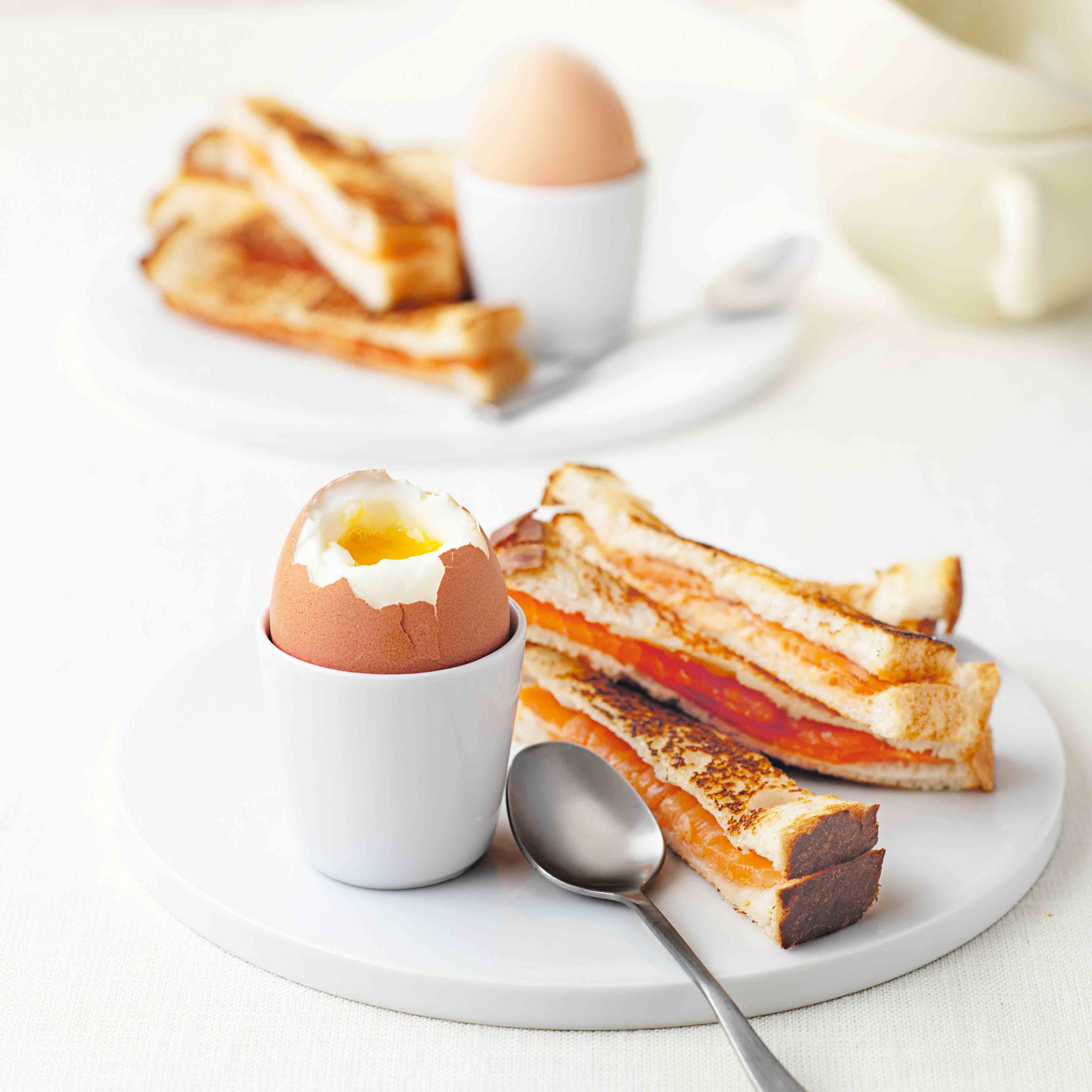 Photo of Soft-boiled egg with smoked salmon soldiers by WW