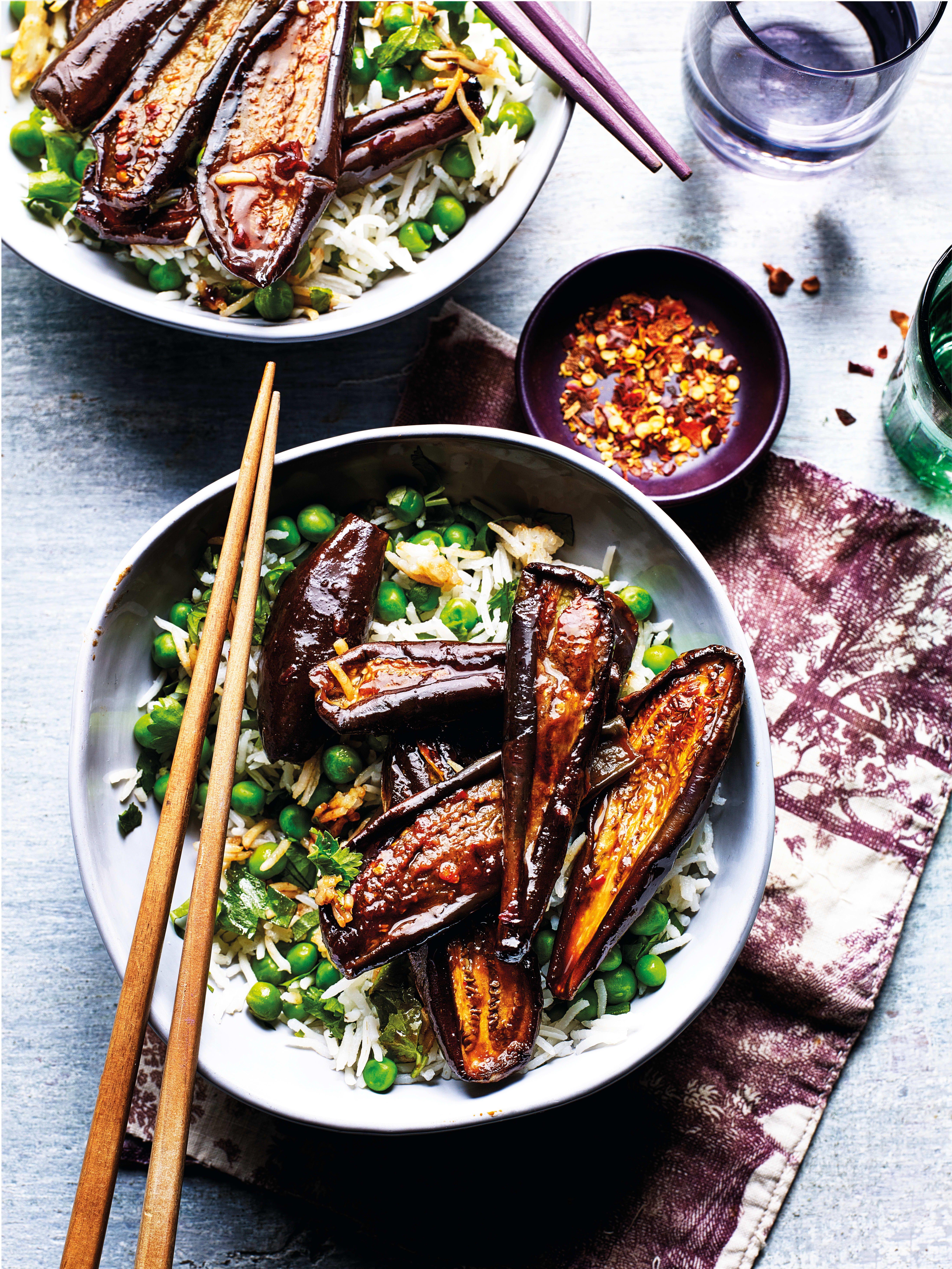 Photo of Soy-roasted aubergines with fragrant rice by WW