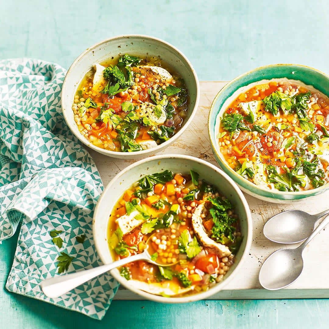 Photo of Turkey, kale & couscous broth by WW