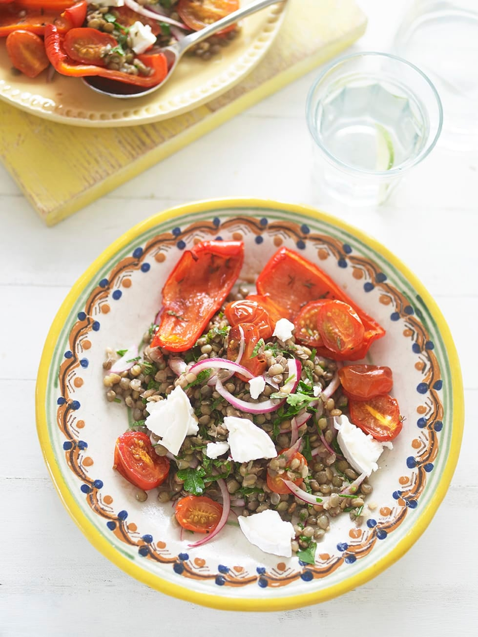 Photo of Lentil salad with goat's cheese & roasted peppers by WW