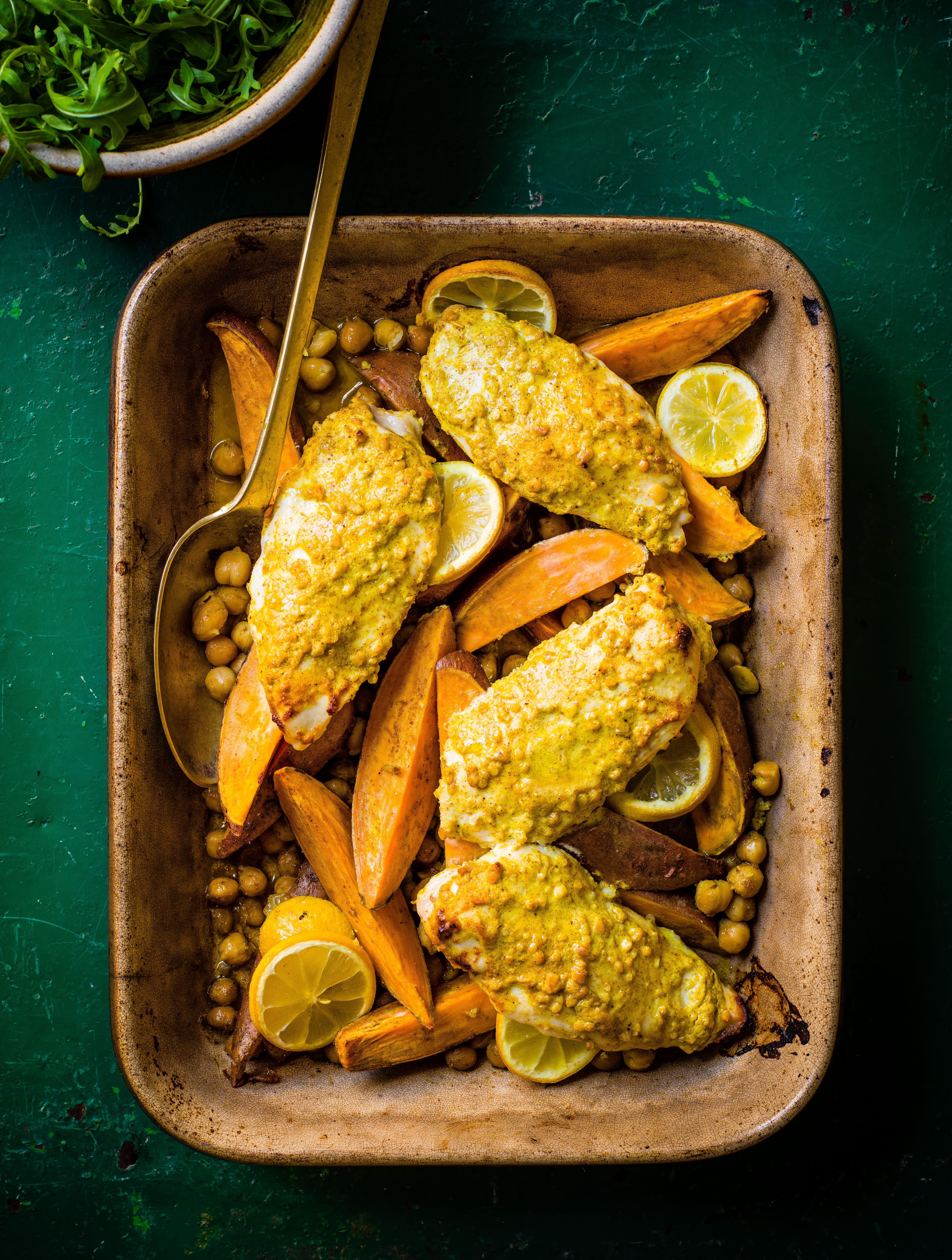 Photo of Curried chicken, sweet potato & chickpea traybake by WW