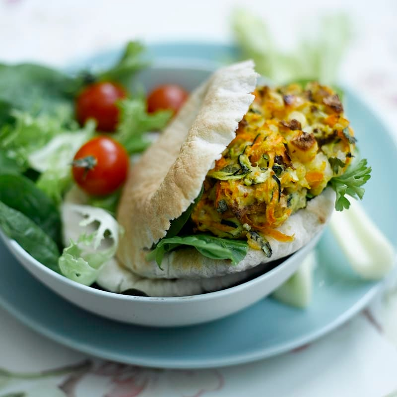Photo of Vegetable halloumi burgers in mini pittas by WW