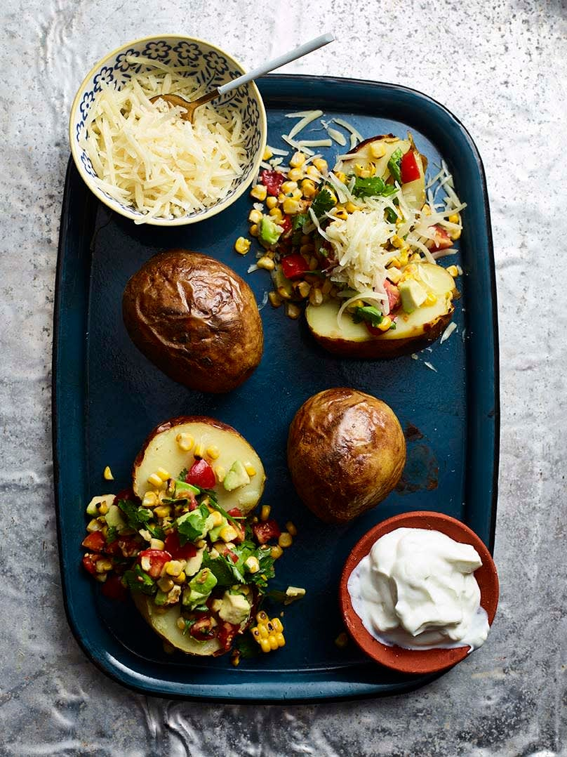 Photo of Baked potatoes with charred corn salsa by WW