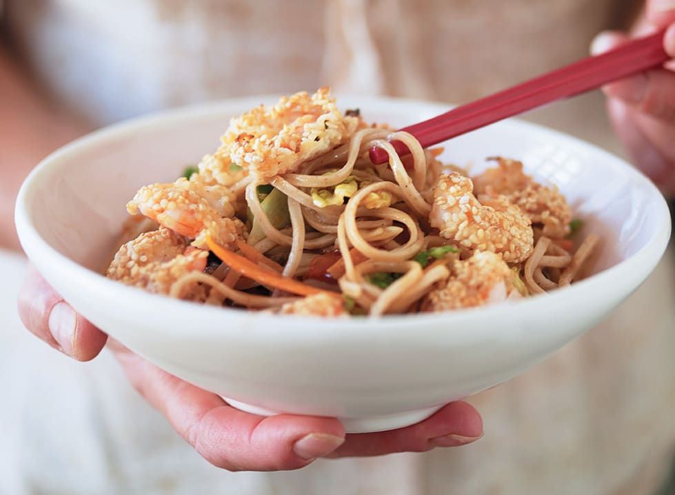 Photo of Sesame prawns with sweet & sour noodles by WW