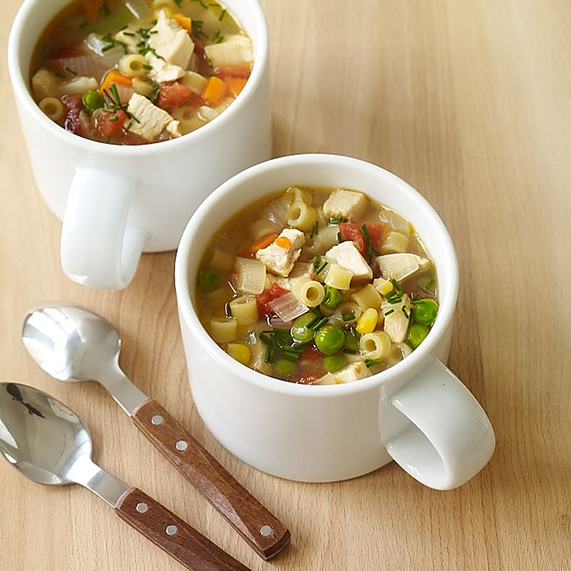 Photo of Super-easy chicken noodle soup by WW