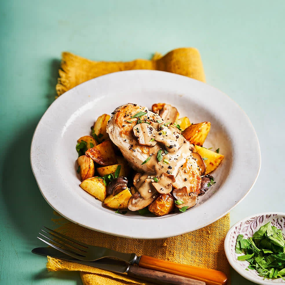 Photo of Chicken marsala with herby sautéed potatoes by WW