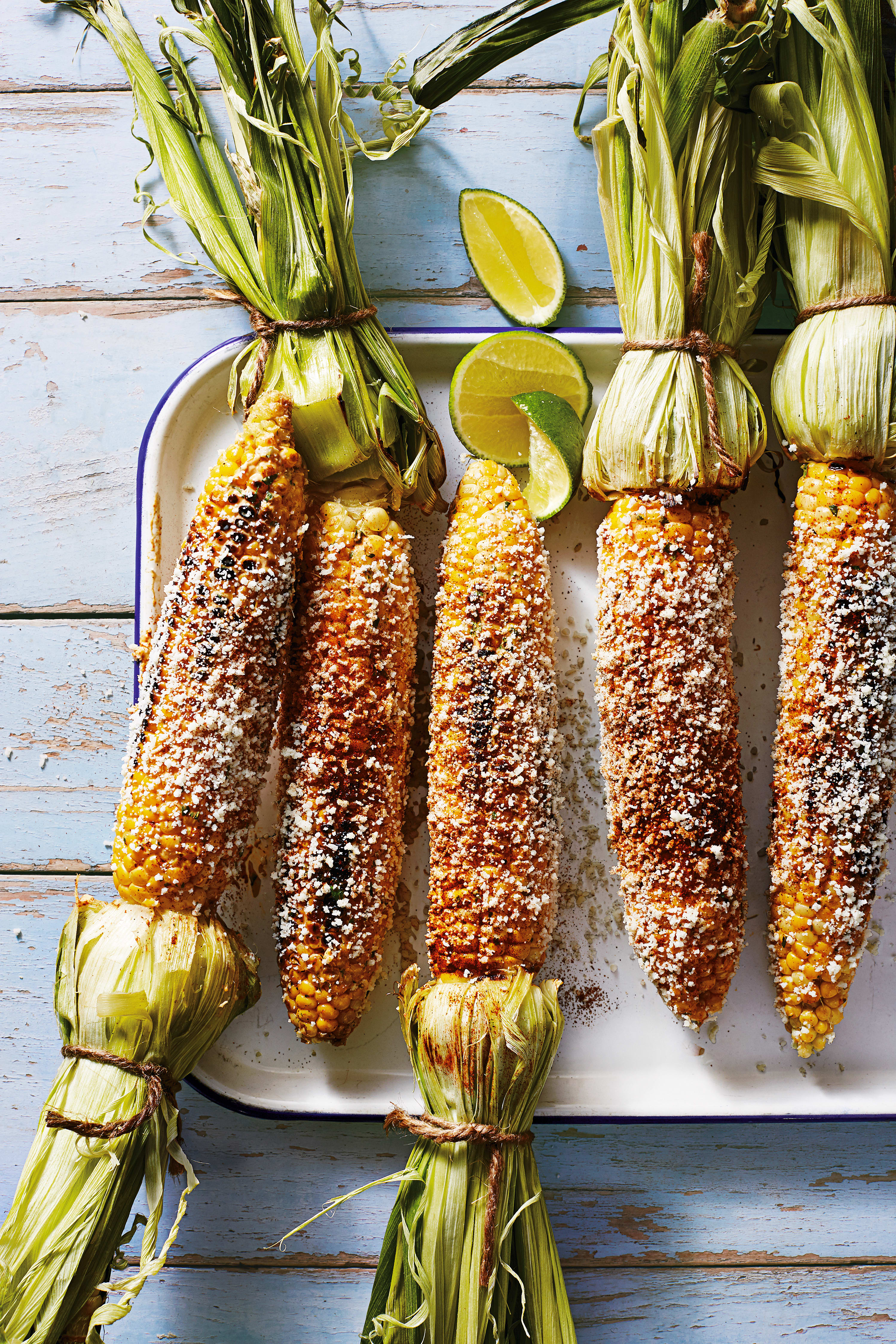 Photo of Mexican street-style griddled corn by WW