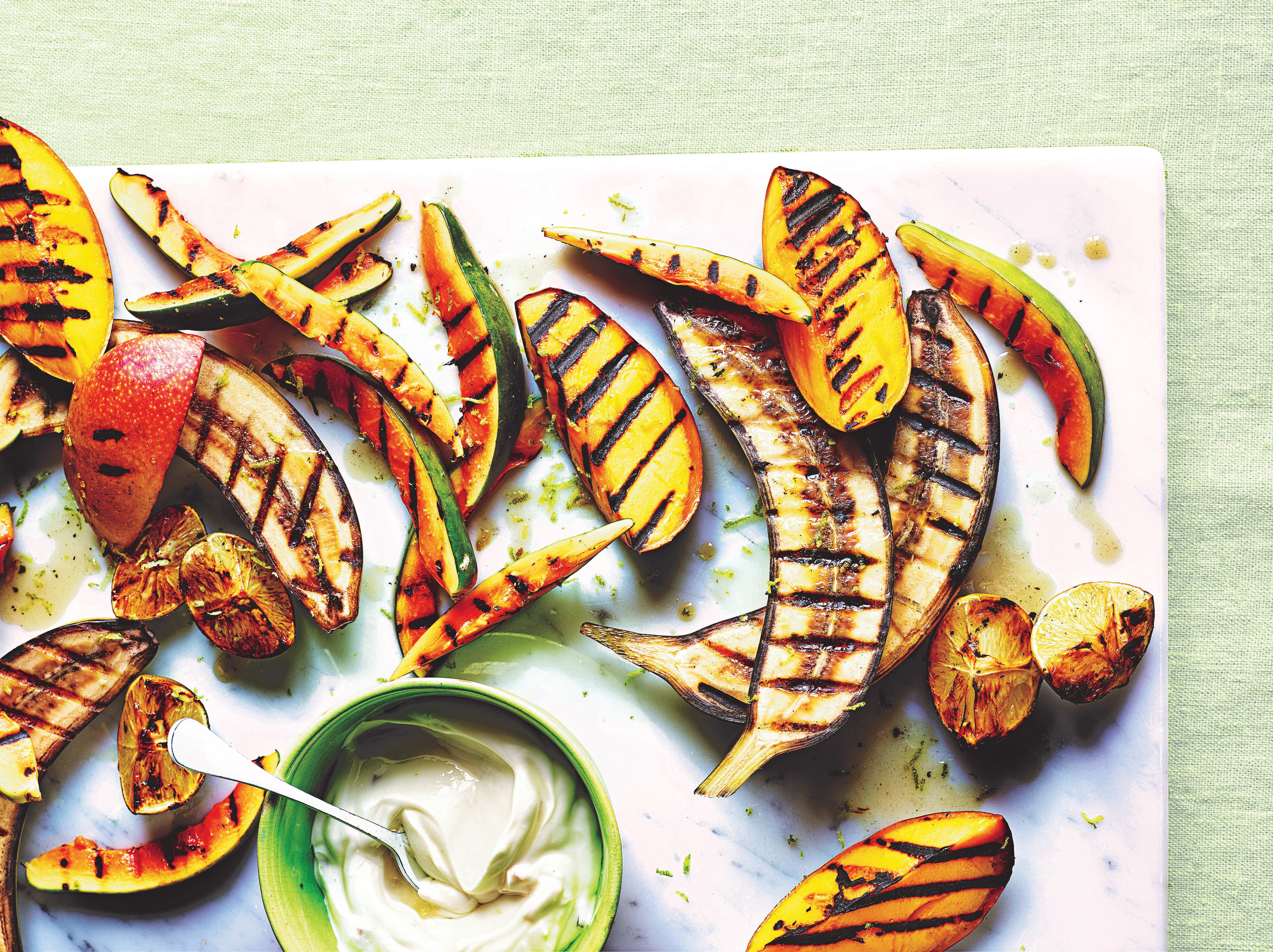 Photo of Griddled fruit with ginger yogurt by WW