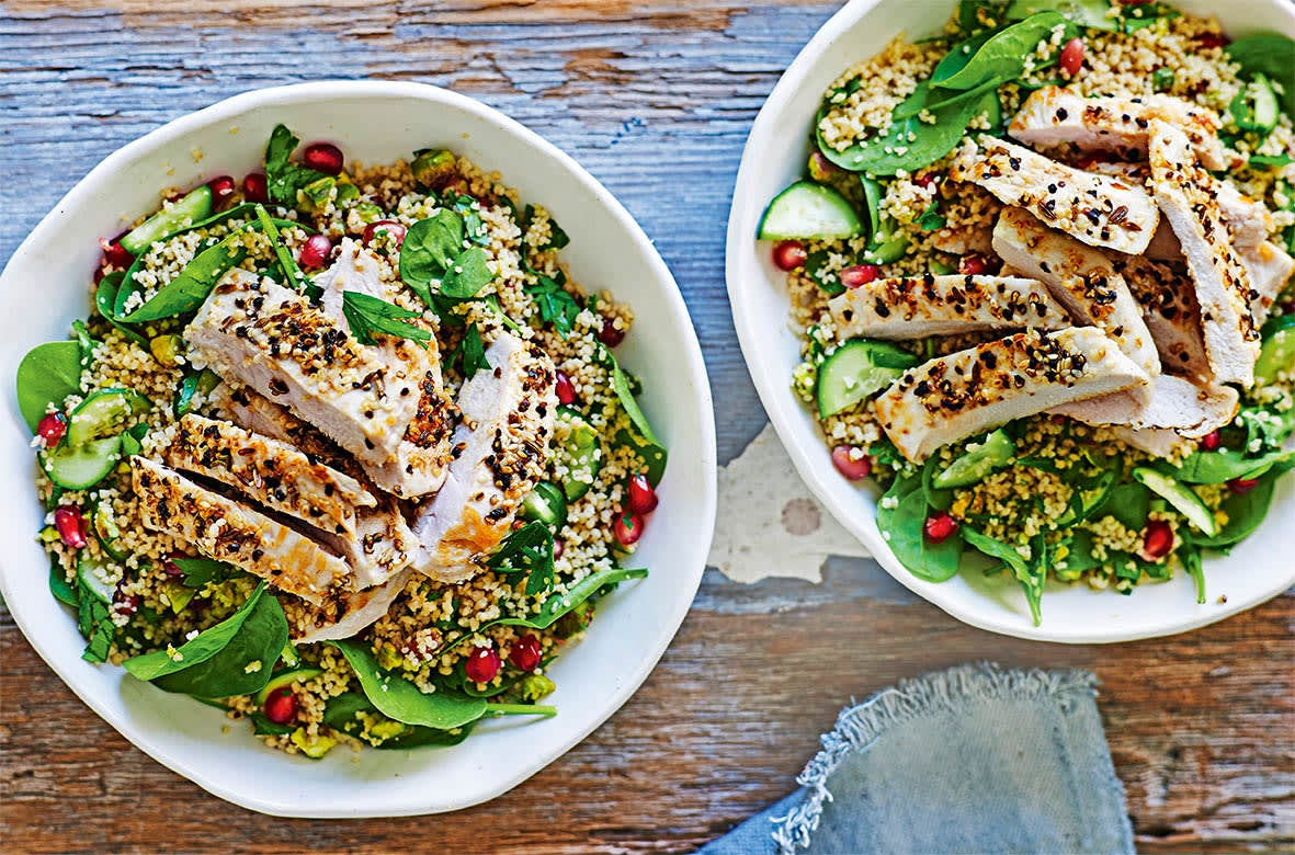 Photo of Spiced chicken with pistachio & pomegranate couscous by WW