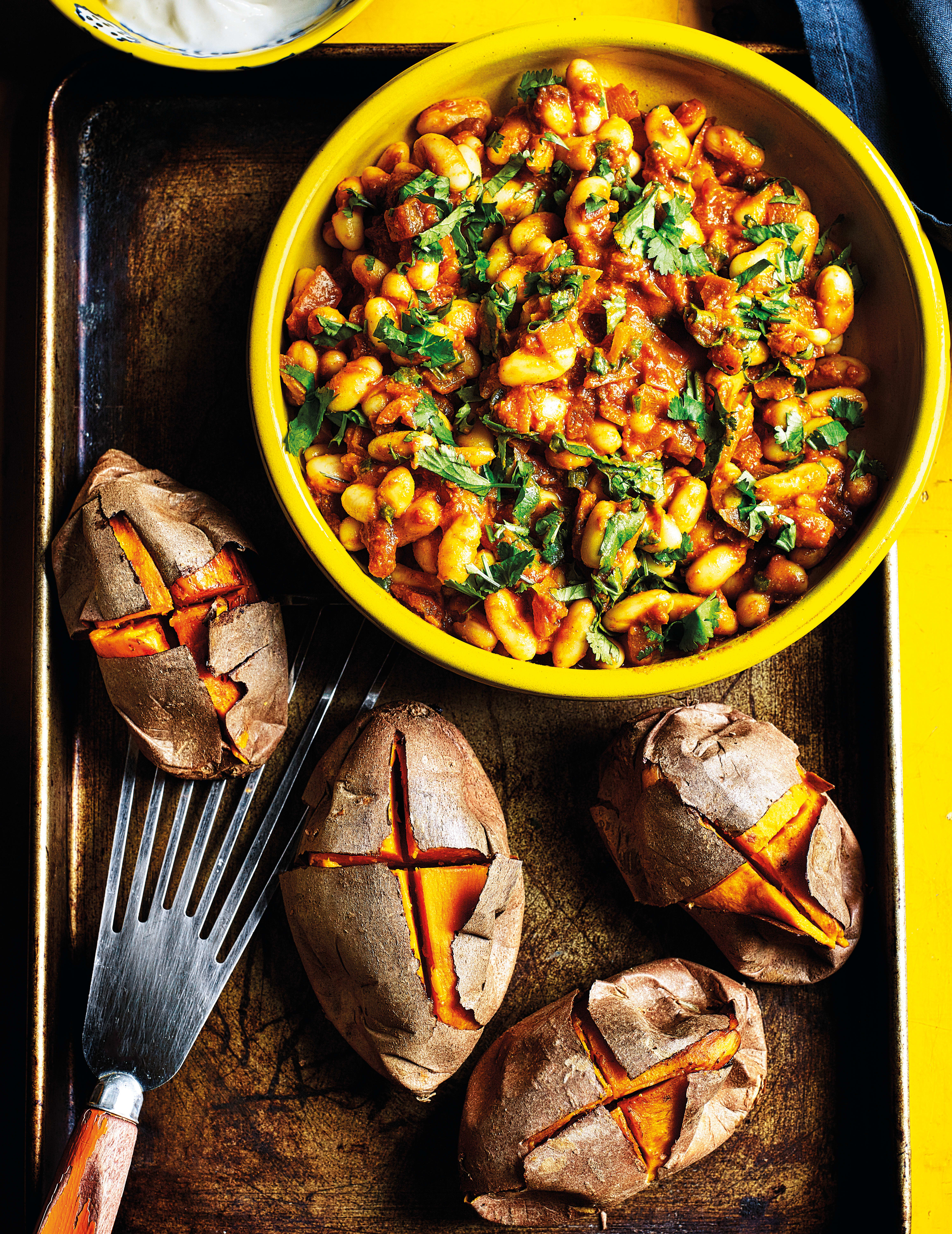 Photo of Sweet potato with masala-spiced baked beans by WW