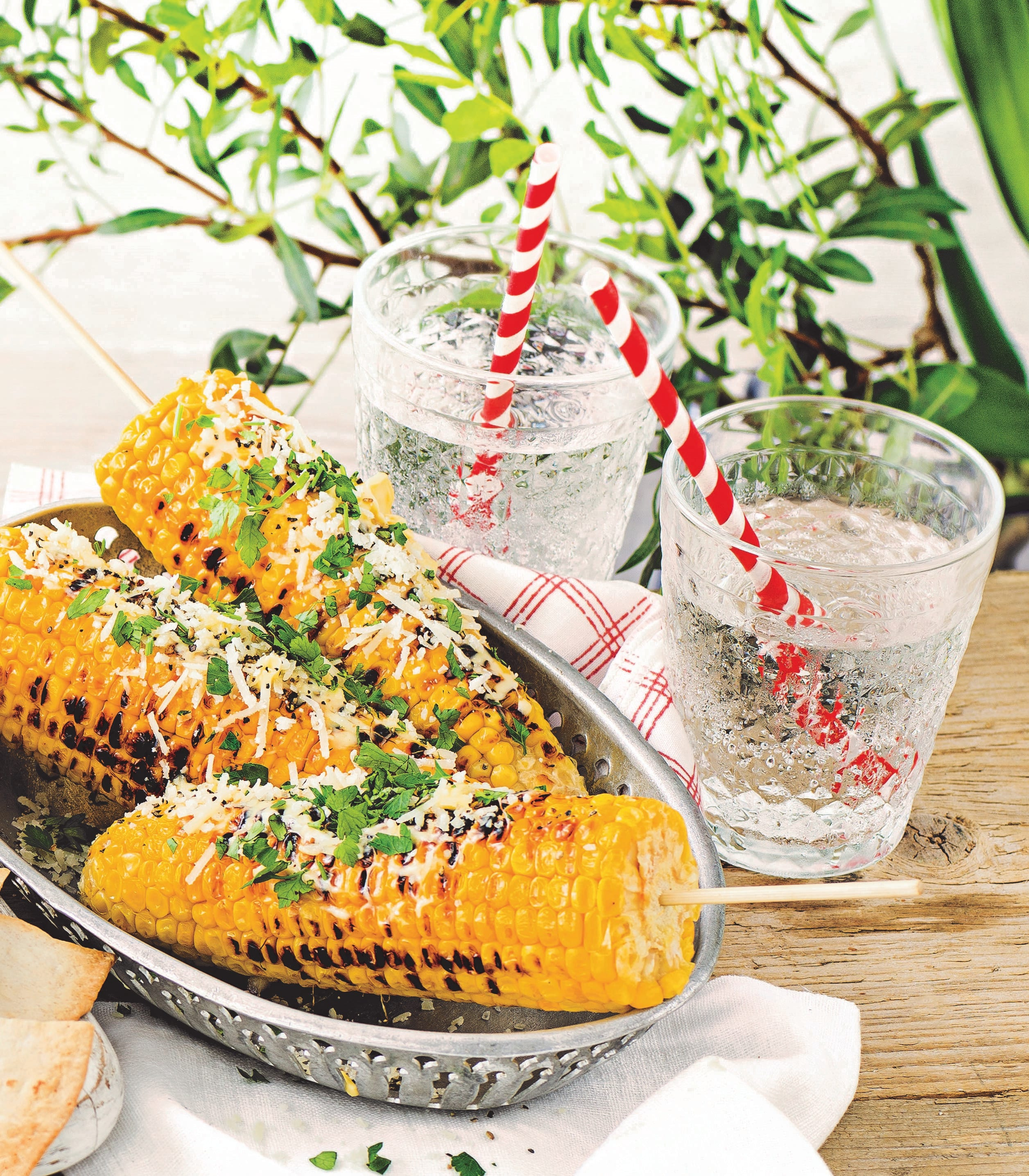 Photo of Griddled corn on the cob with parmesan & parsley by WW