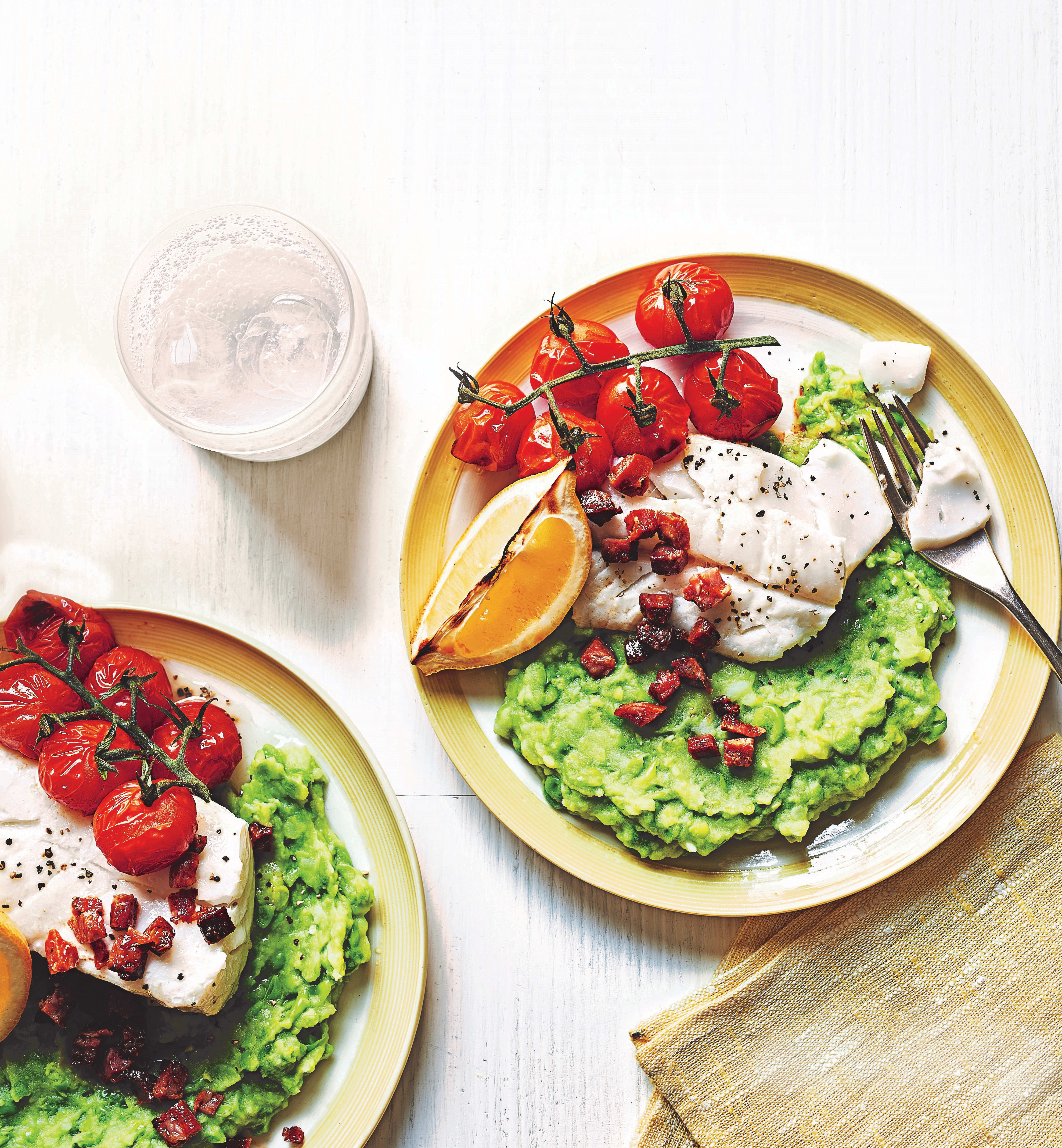 Photo of Baked cod with pea & potato mash by WW