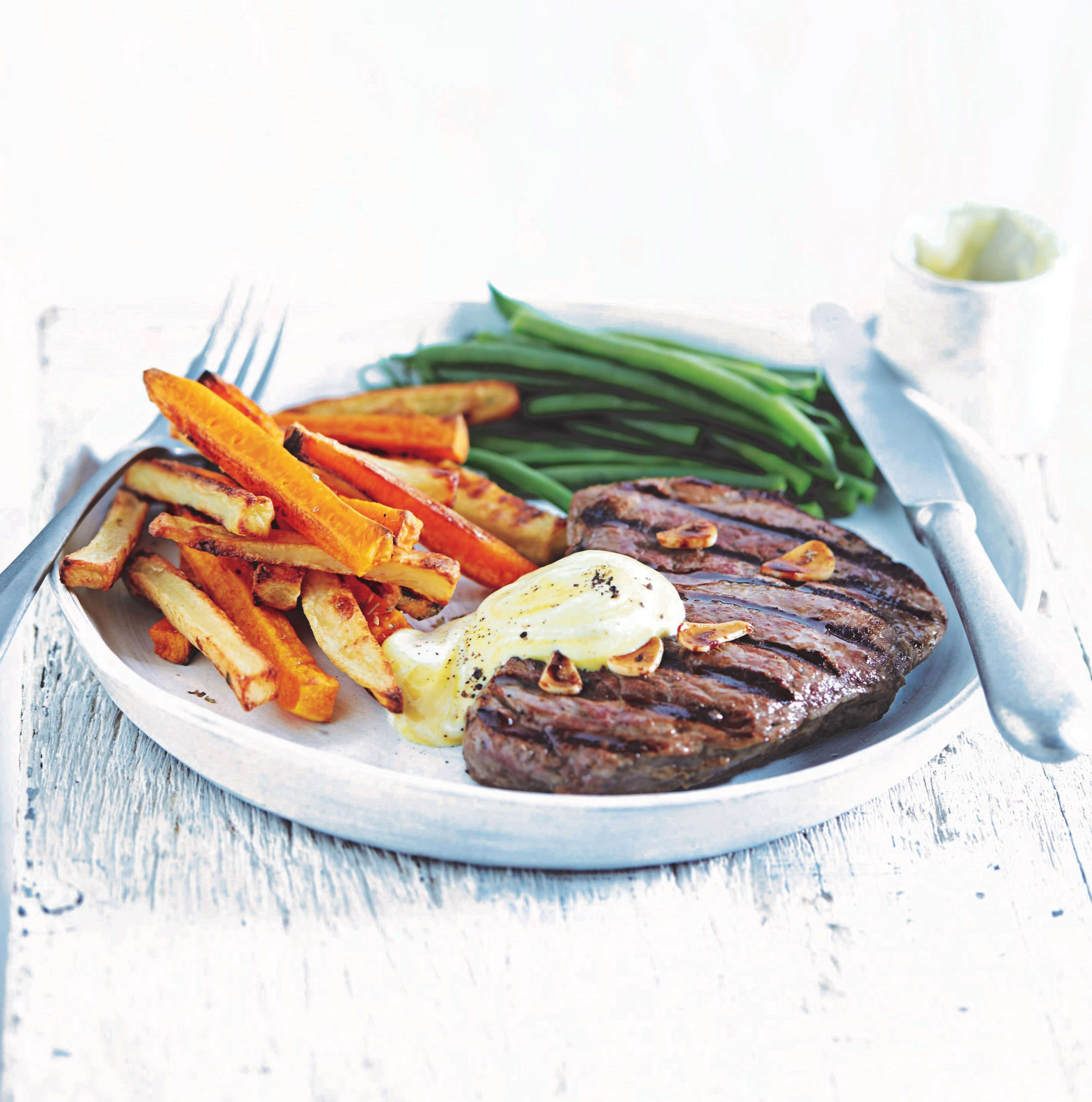 Photo of Griddled rump steak with chips & mustard mayo by WW