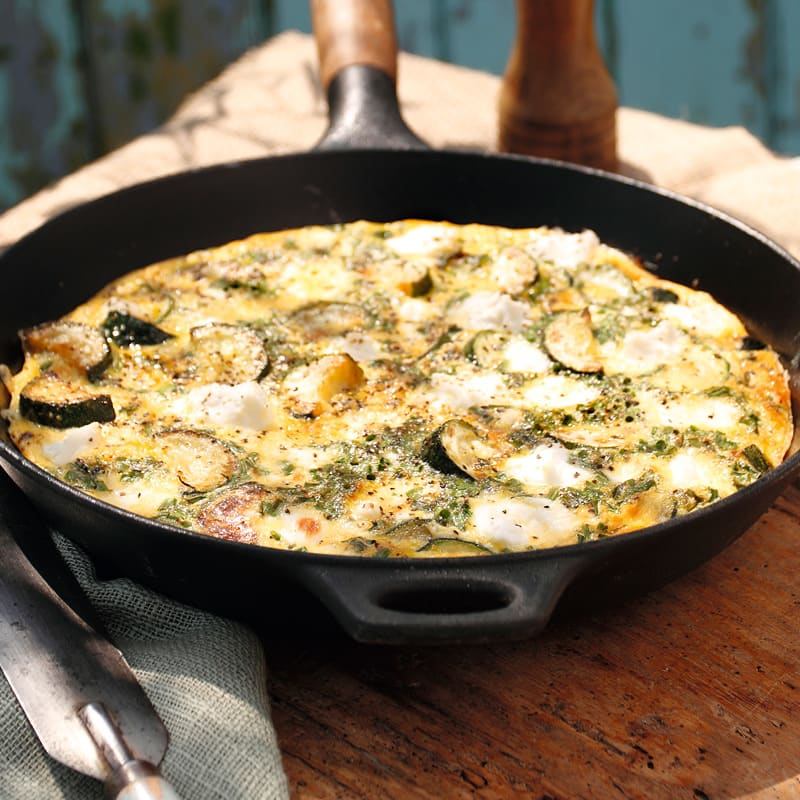 Photo of Courgette & feta frittata by WW