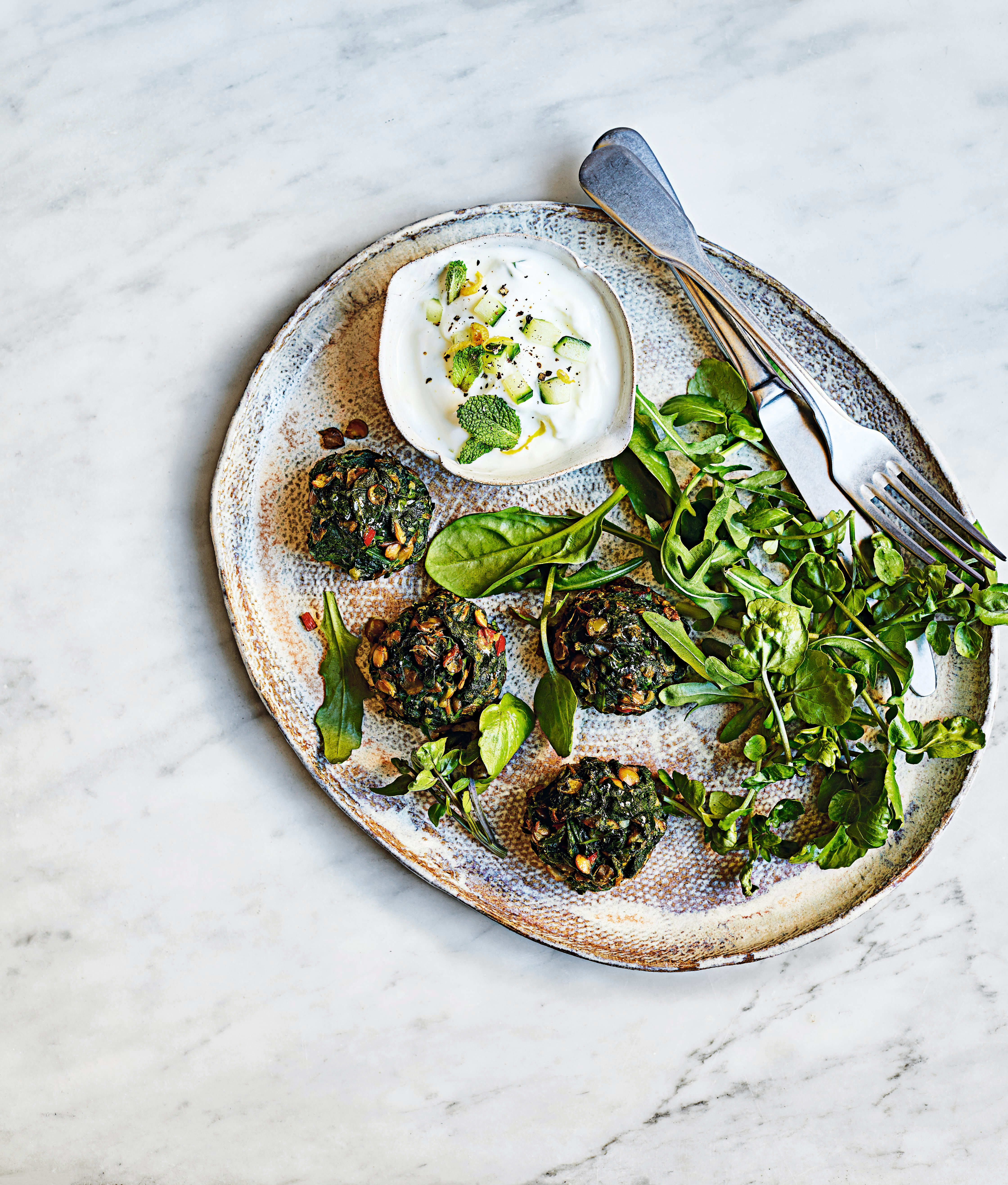 Photo of Green lentil & spinach polpettes by WW