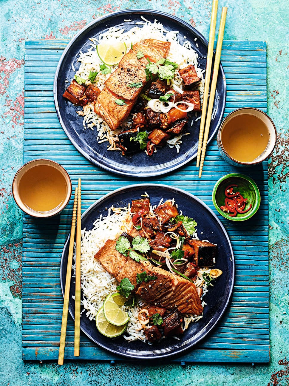 Photo of Soy salmon with sweet & sour aubergines by WW
