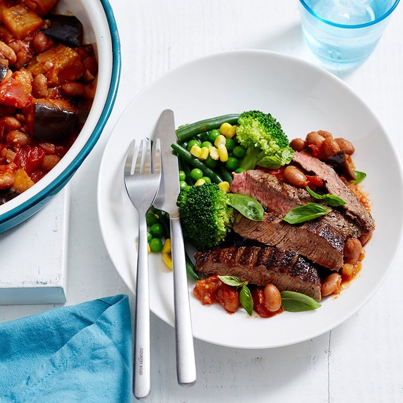 Photo of Grilled beef with aubergine stew by WW