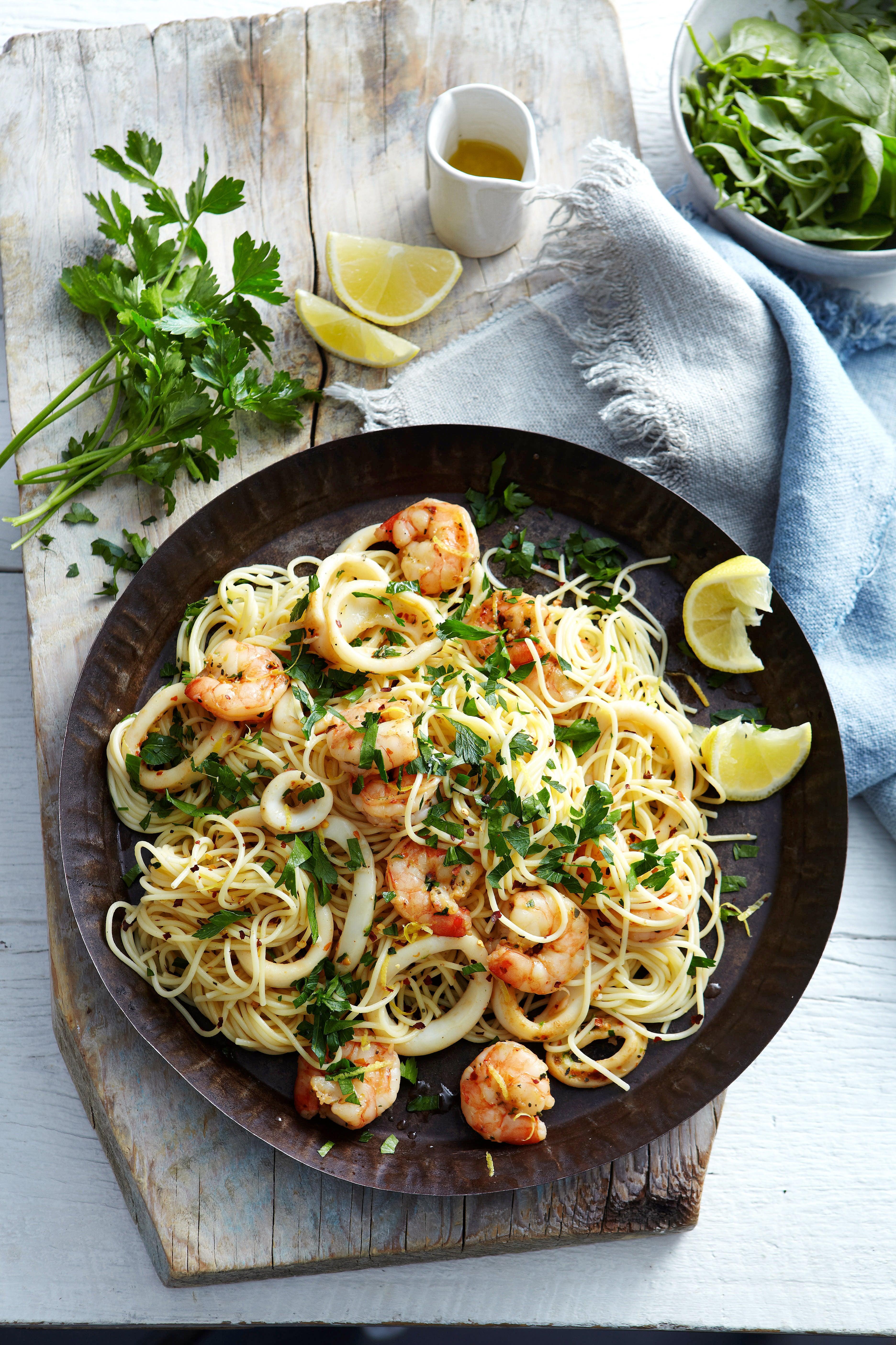 Photo of Lemon capellini with prawns & calamari by WW