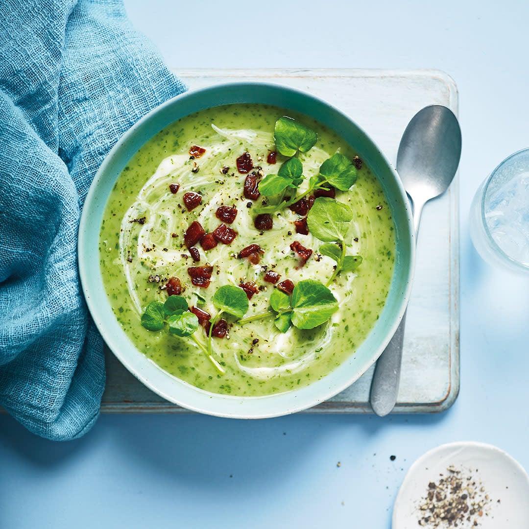 Photo of Watercress soup with chorizo & crème fraîche by WW