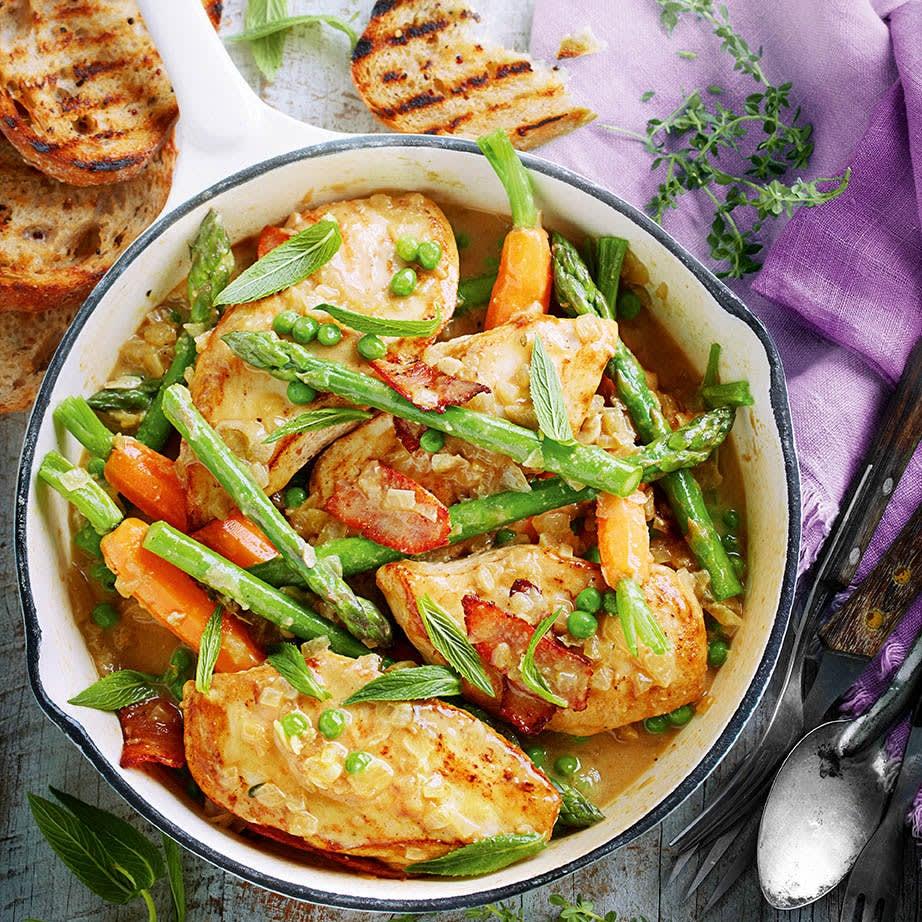 Photo of Braised chicken with garden veggies & mint by WW