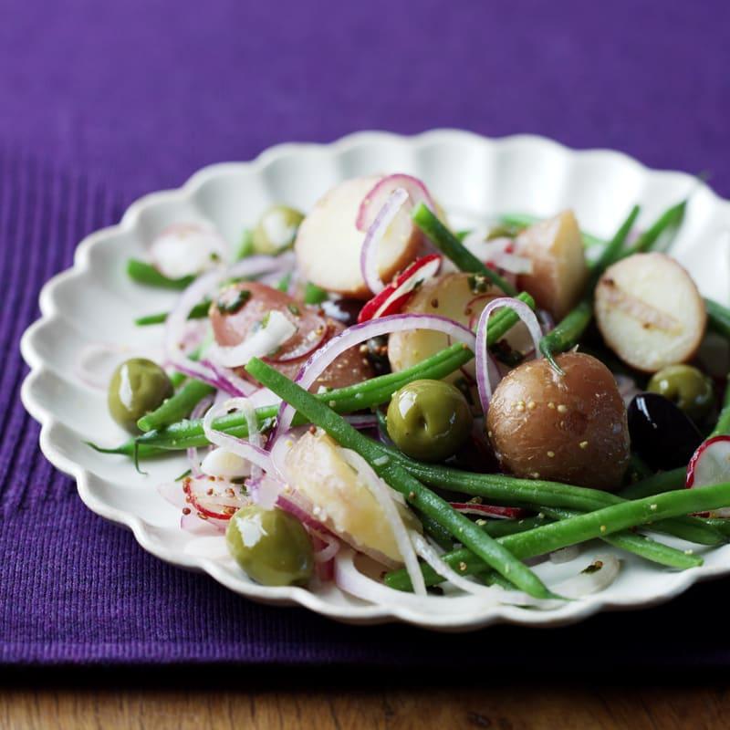 Photo of Potato, radish, olive & green bean salad by WW
