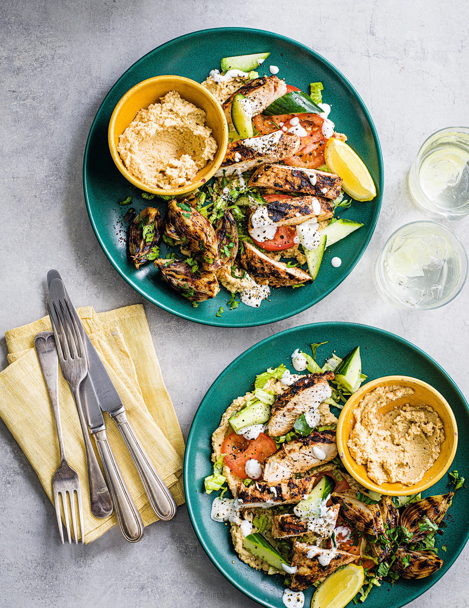 Photo of Kebab-shop houmous with sumac chicken & onion salad by WW