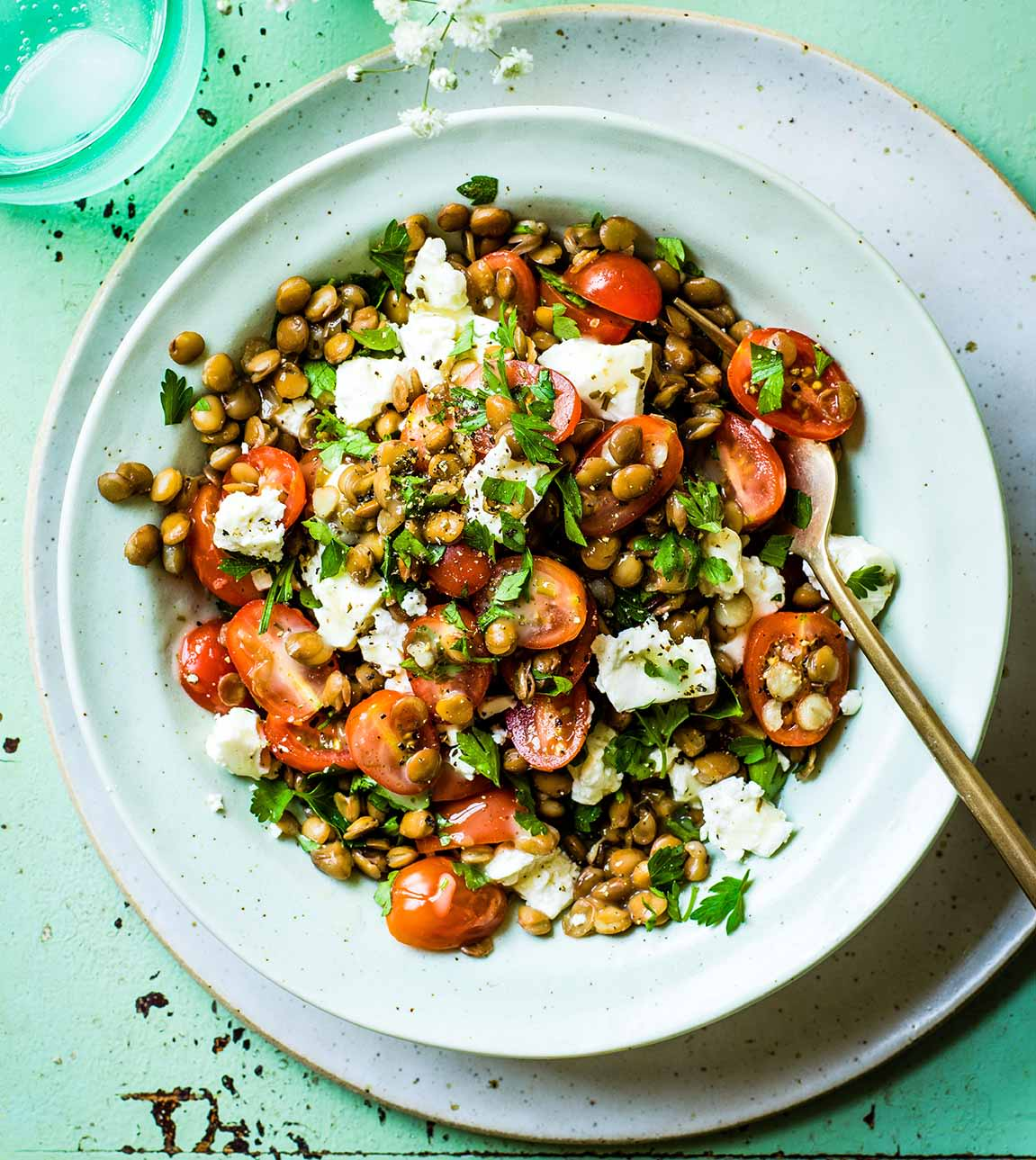 Photo of Lentil, feta & tomato salad by WW