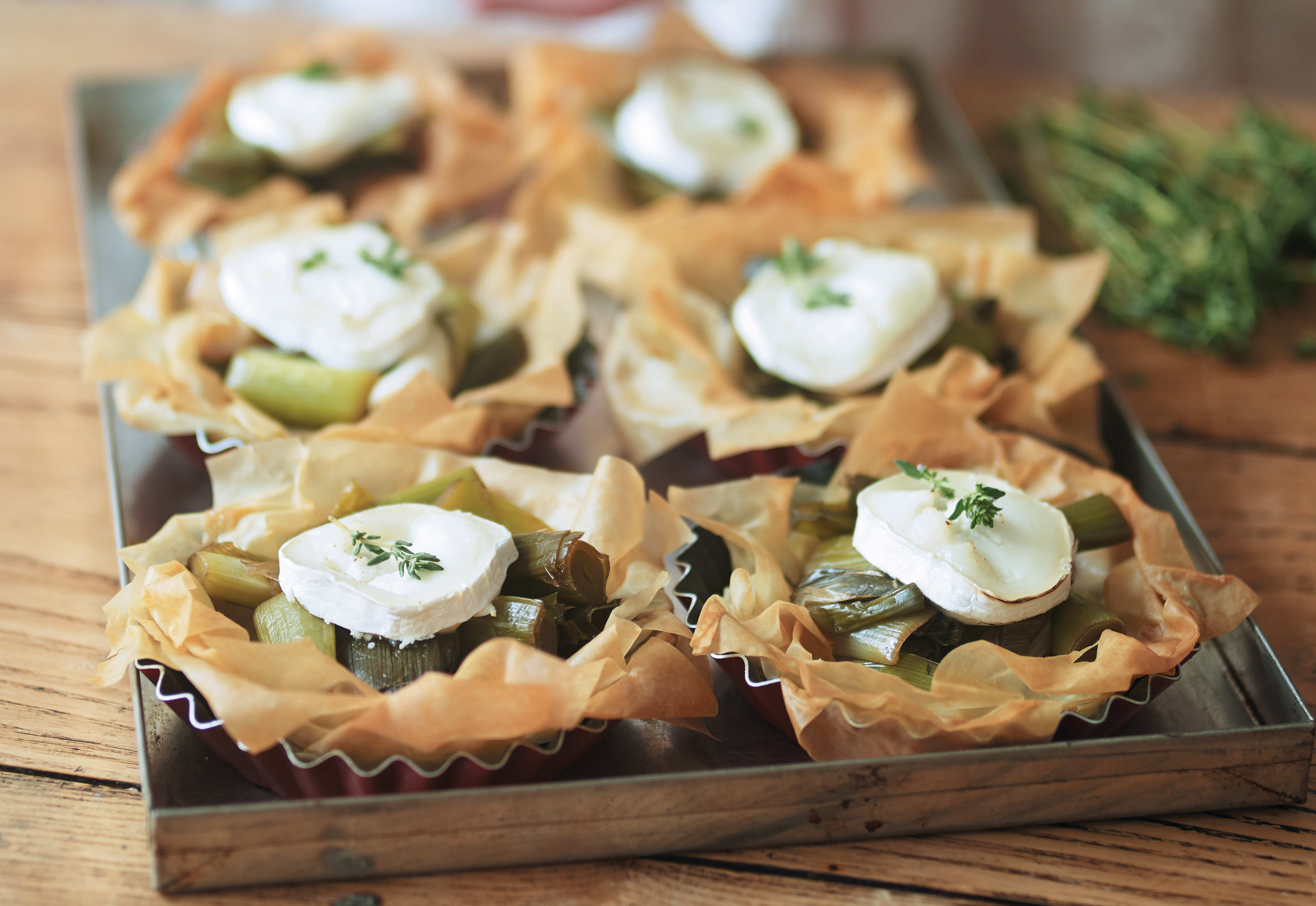 Photo of Balsamic leek & goat's cheese tarts by WW