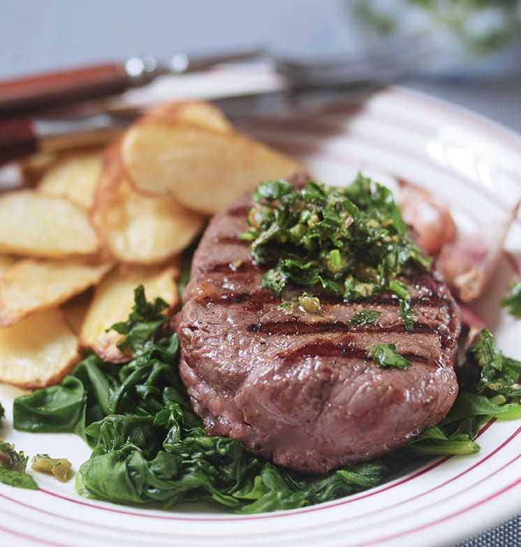 Photo of Seared fillet with salsa verde & spinach by WW