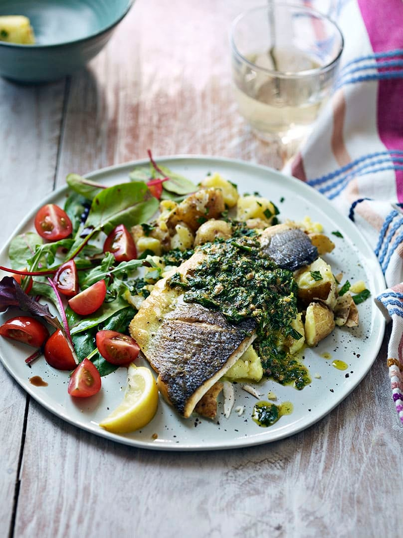 Photo of Sea bass with salsa verde by WW