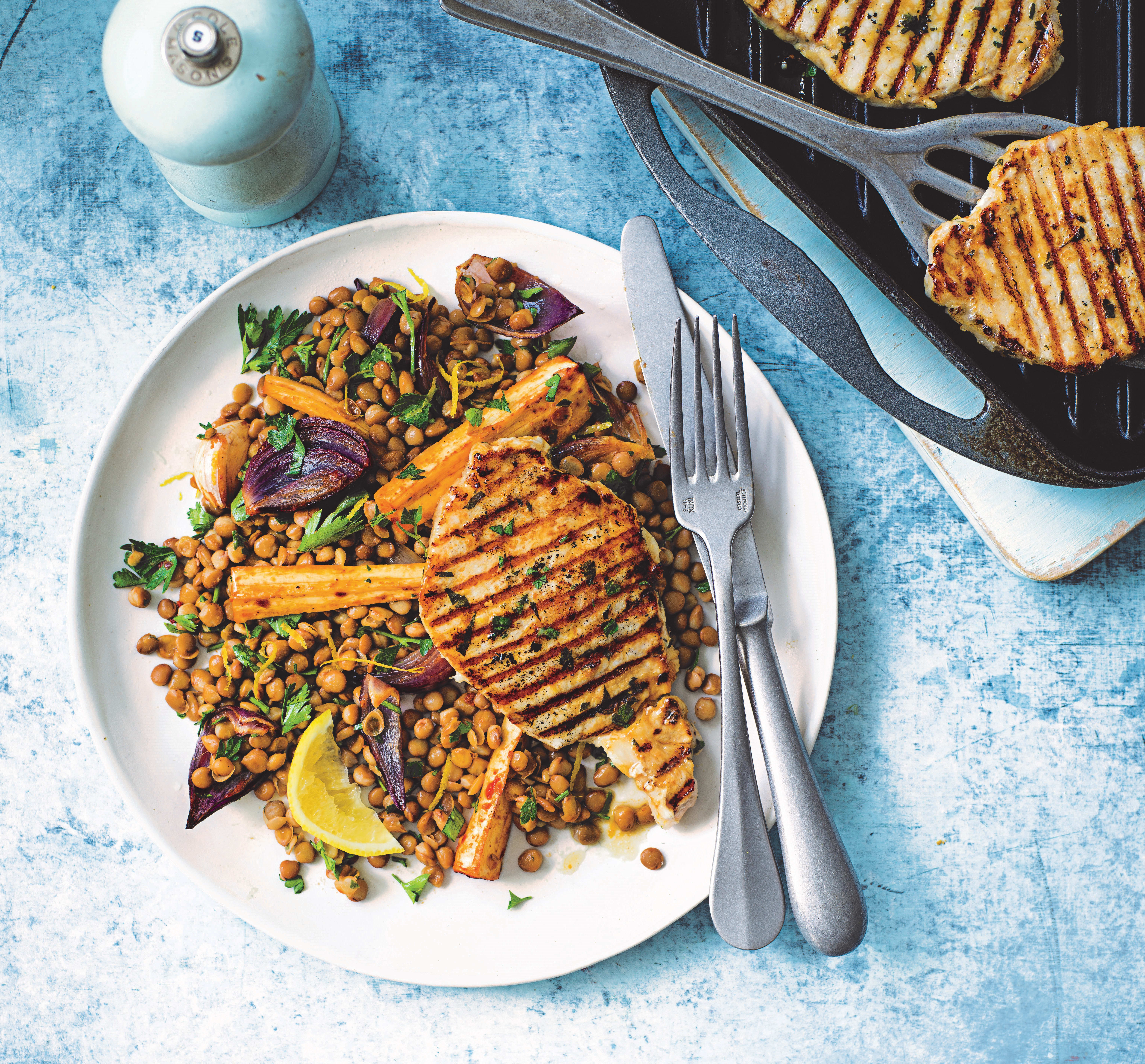 Photo of Pork steaks with winter lentil salad by WW