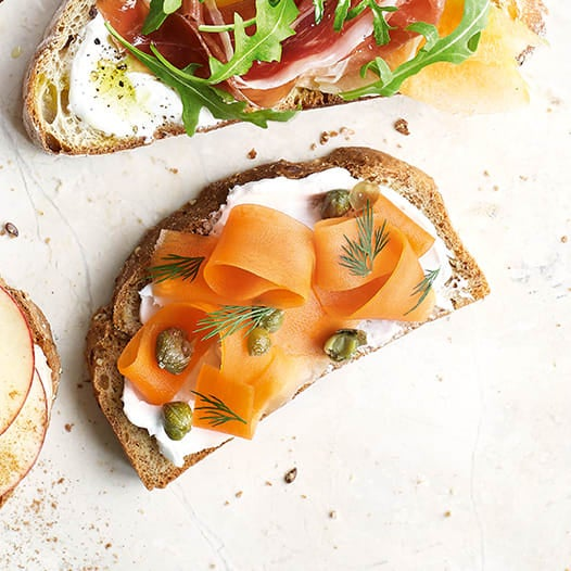 Photo of Vegan 'salmon' with cream cheese, dill on wholemeal by WW