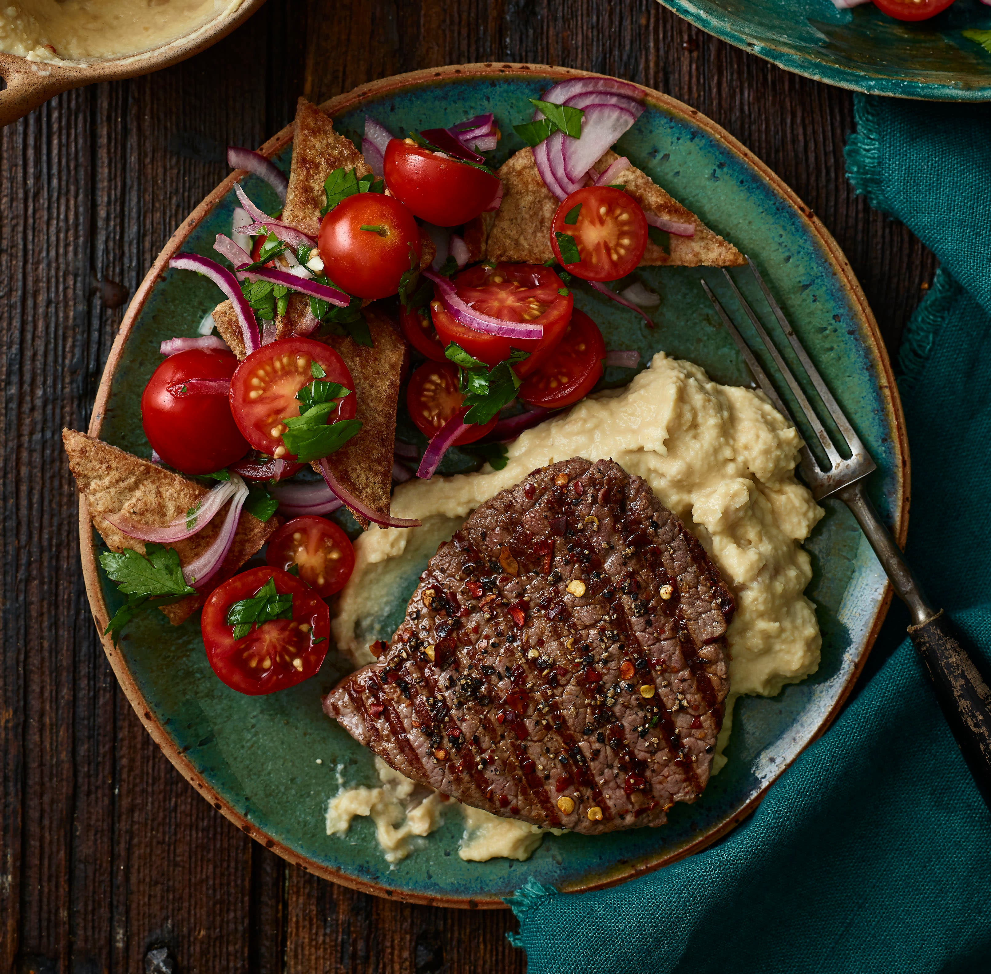 Photo of Chilli beef with houmous by WW