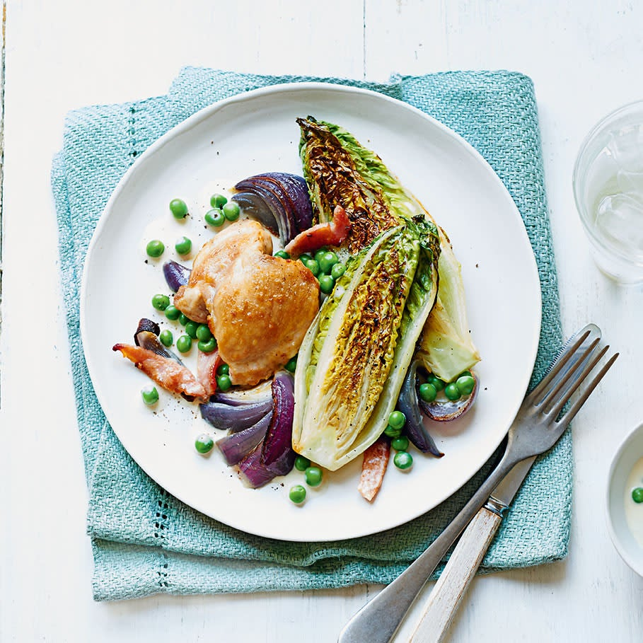 Photo of Chicken, bacon & cos lettuce traybake by WW
