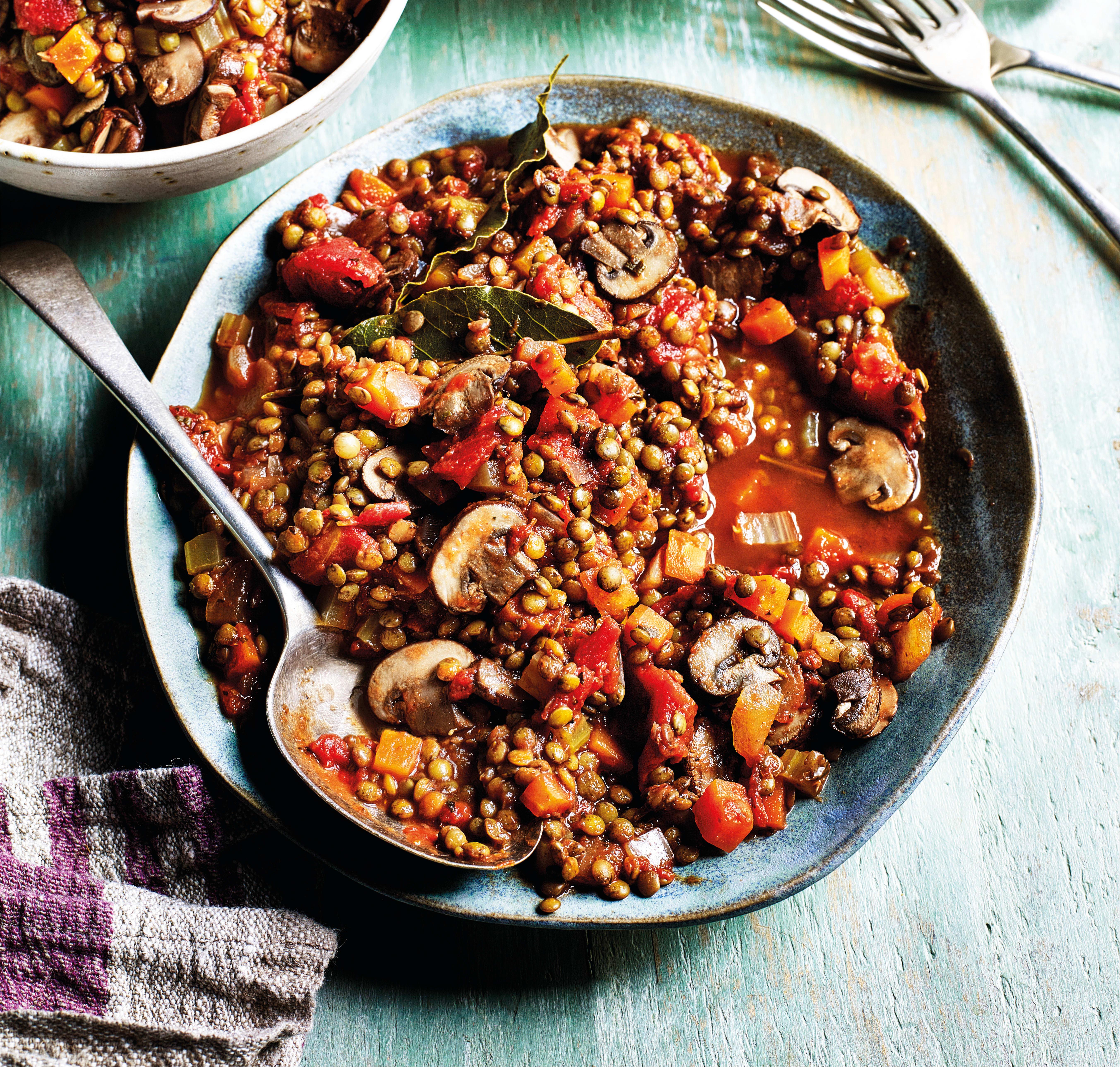 Photo of Mushroom & lentil ragu with spaghetti by WW