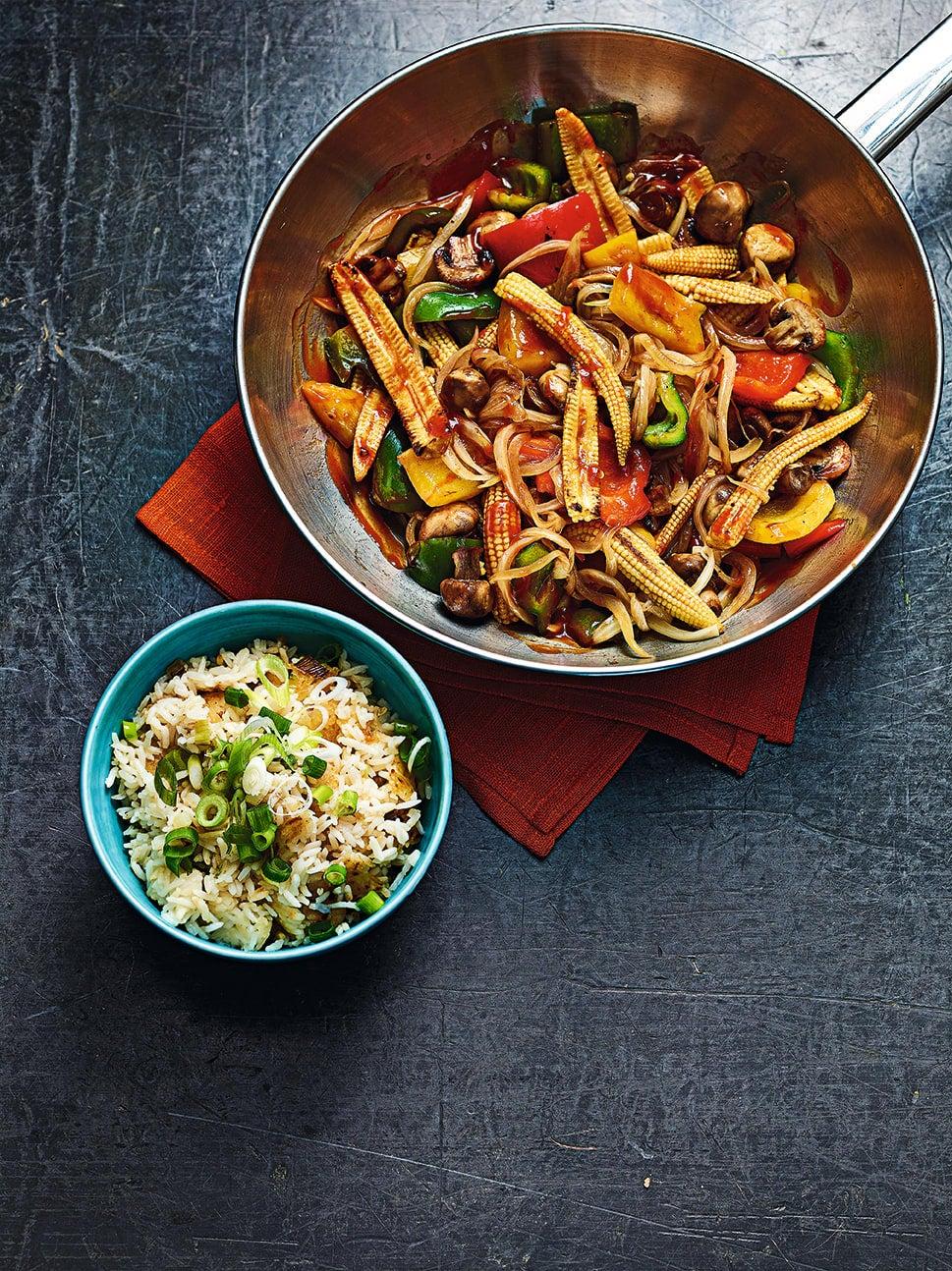 Photo of Korean veggie stir-fry with crispy rice by WW