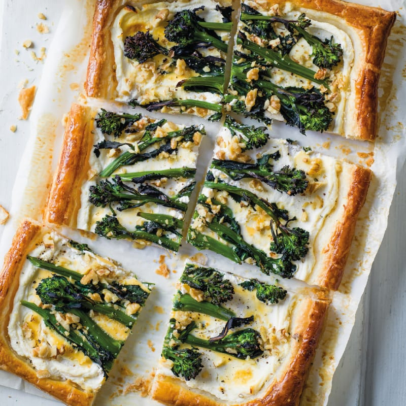 Photo of Broccoli, walnut & ricotta tart with courgette salad by WW