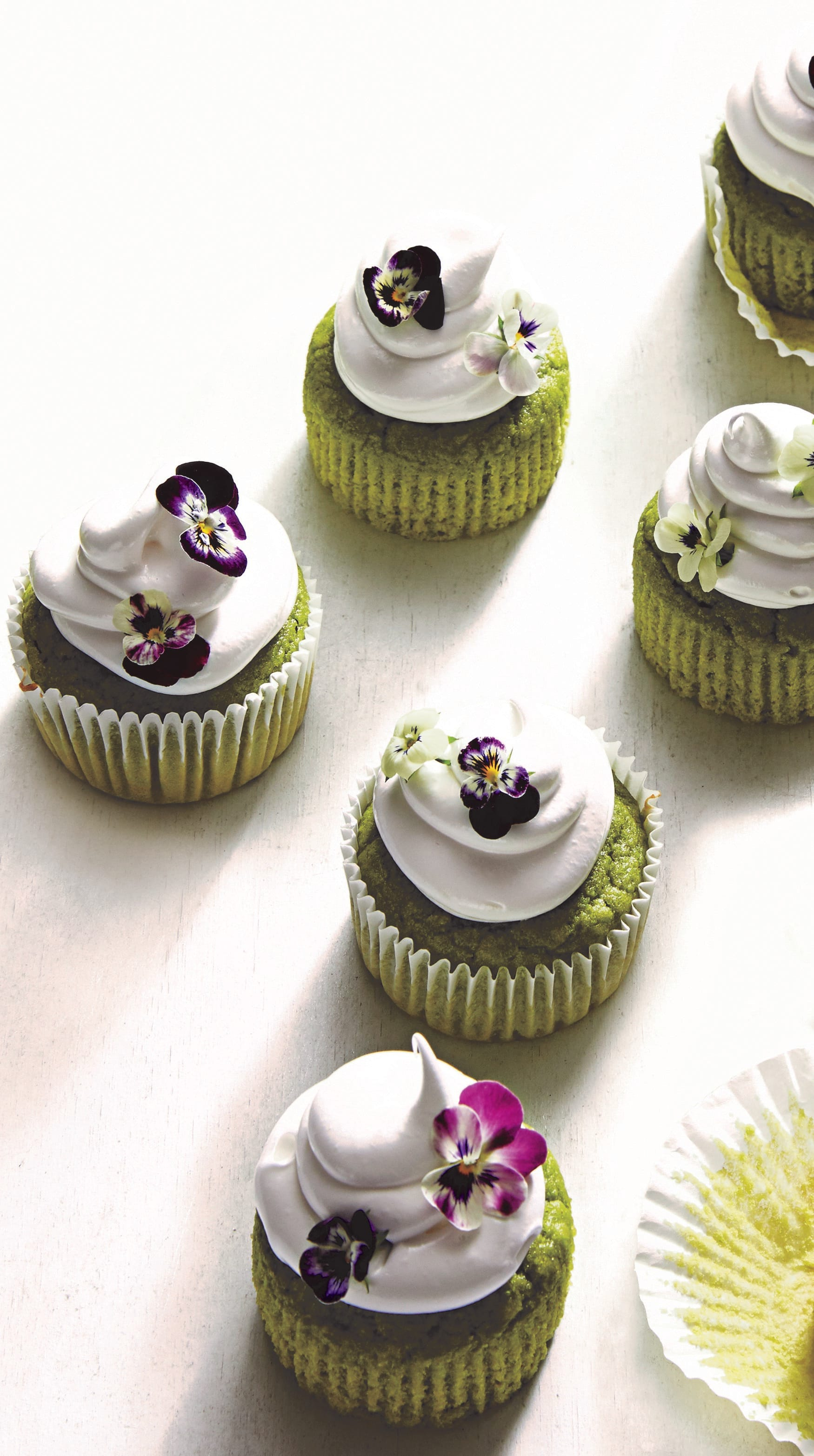 Photo of Sweet pea cupcakes with Swiss meringue frosting by WW