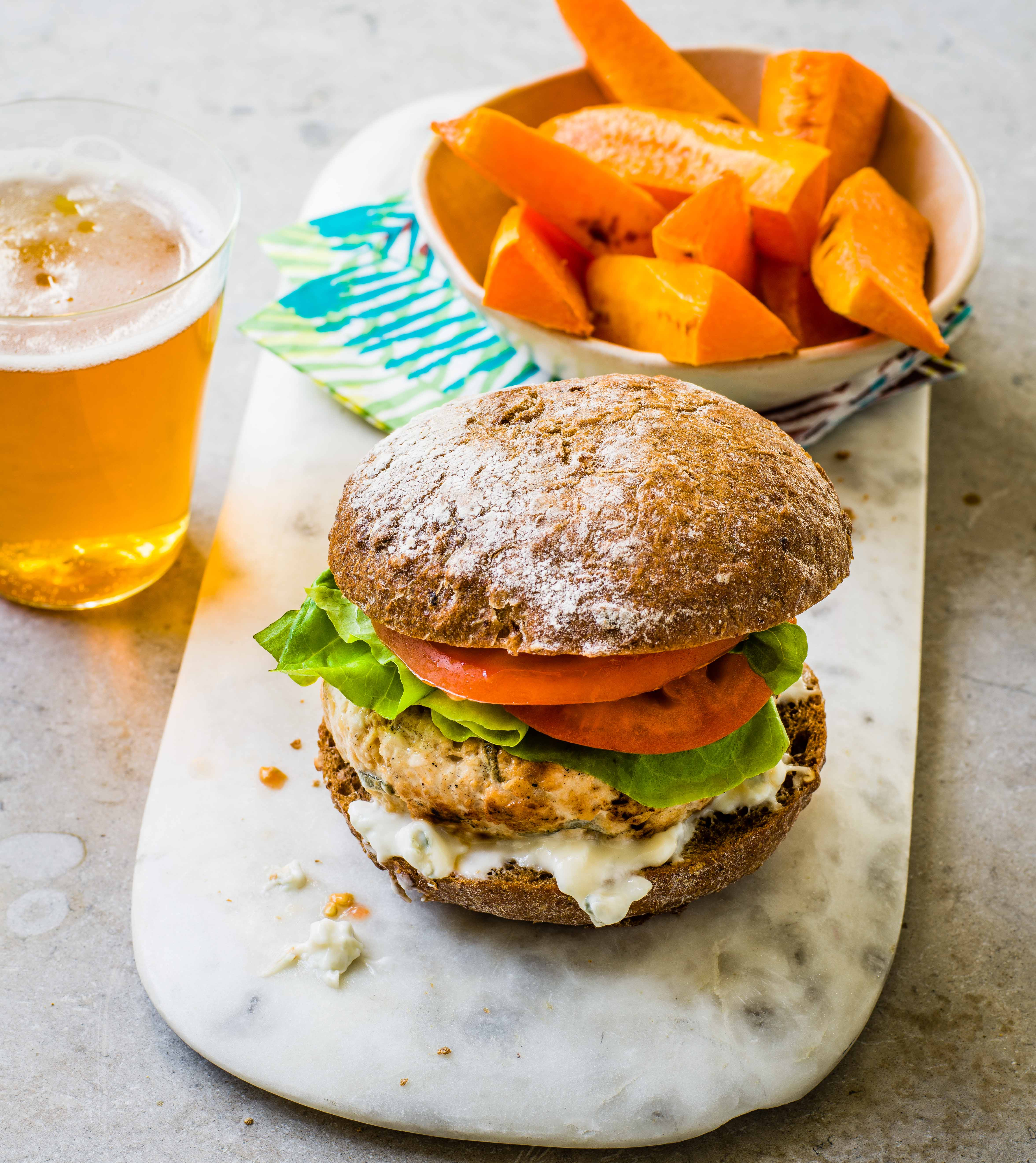 Photo of Sage & blue cheese chicken burgers by WW