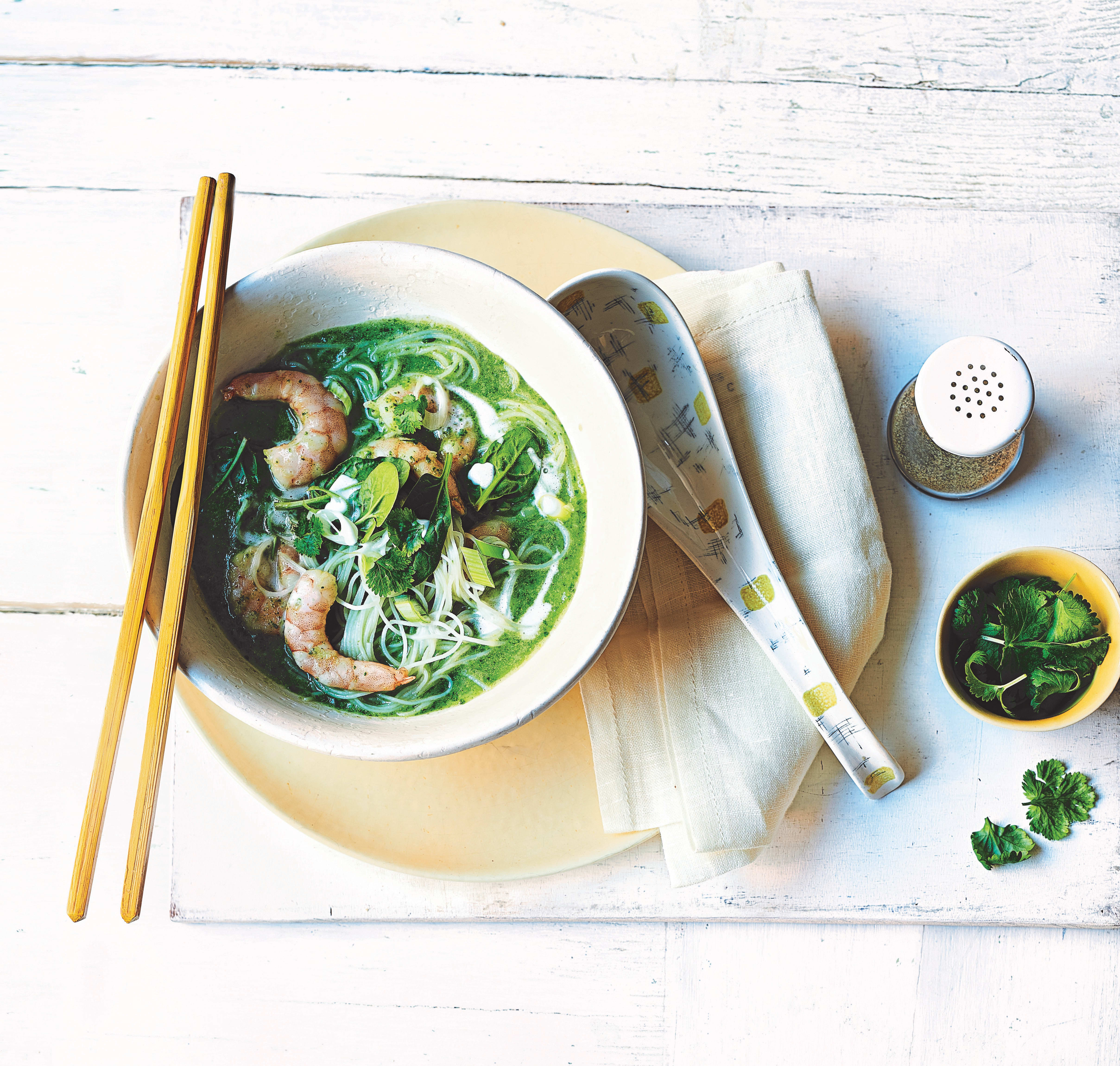Photo of Thai spinach, cauliflower & coconut noodle soup by WW