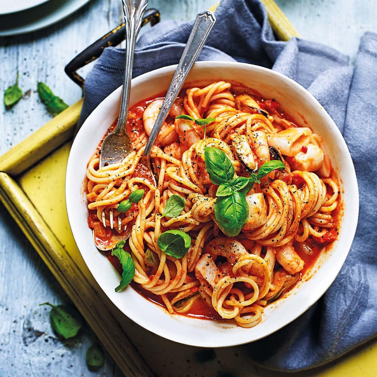 Photo of Speedy seafood pasta by WW