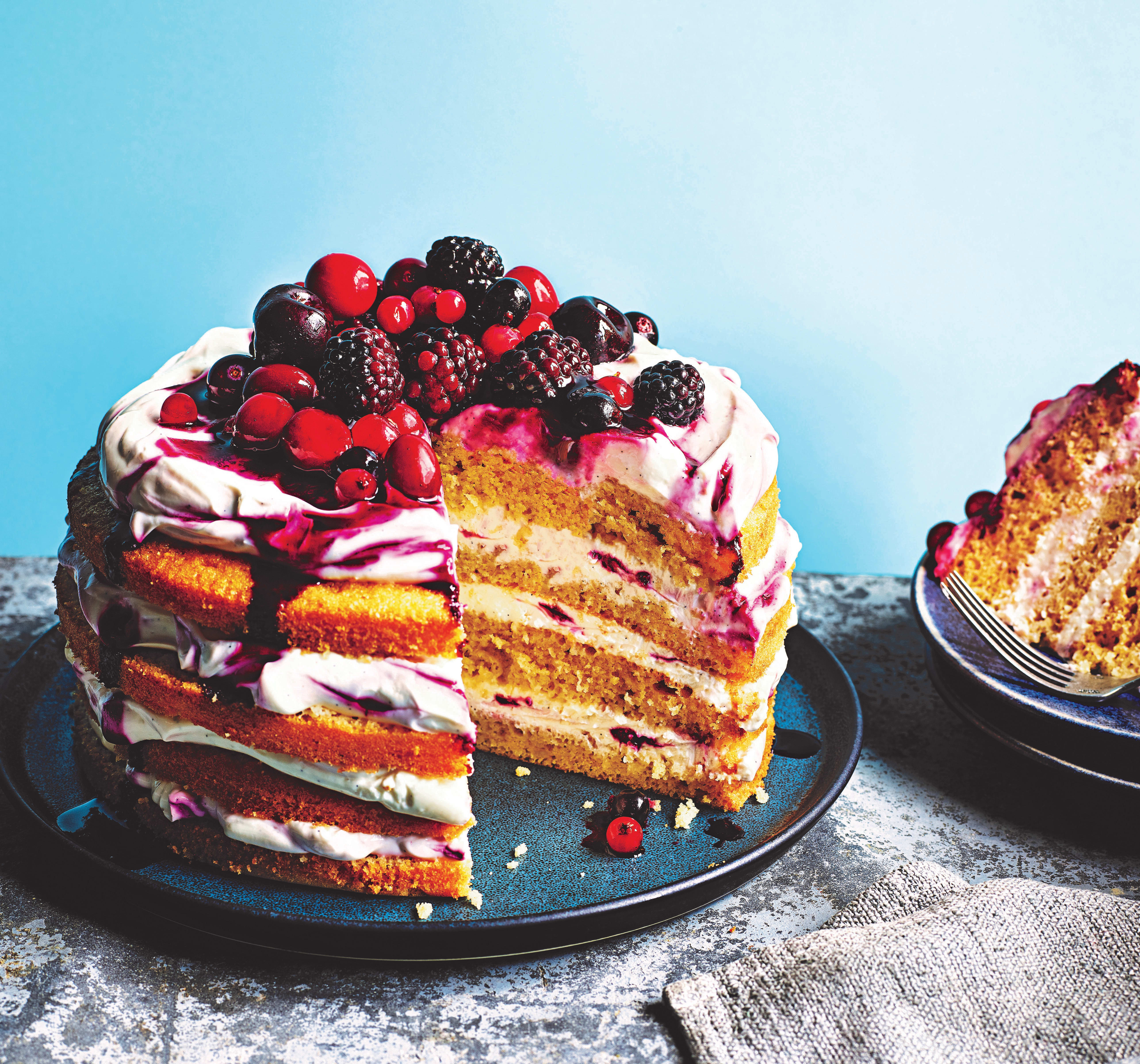 Photo of Forest fruits layer cake by WW