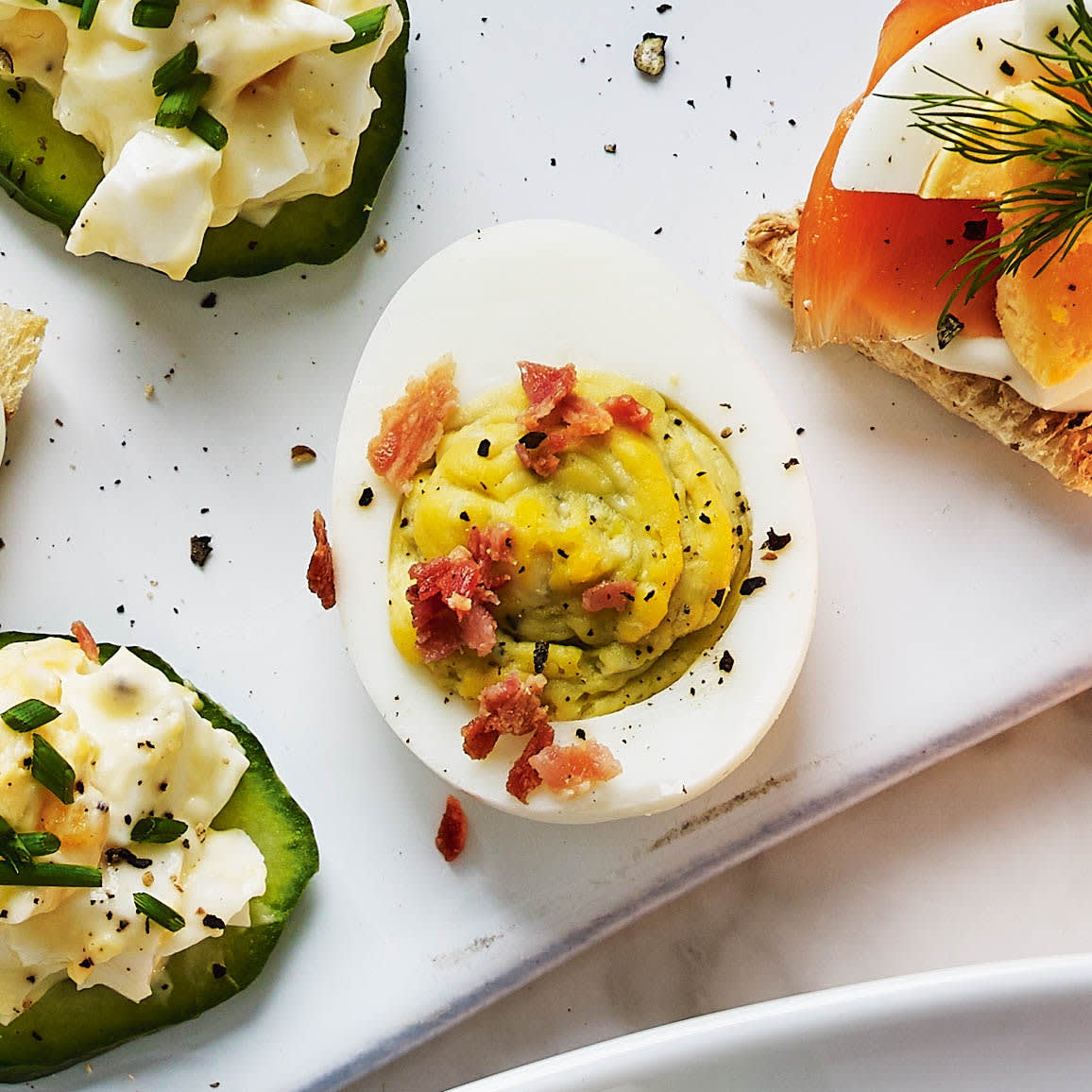 Photo of Blue cheese & bacon devilled eggs by WW