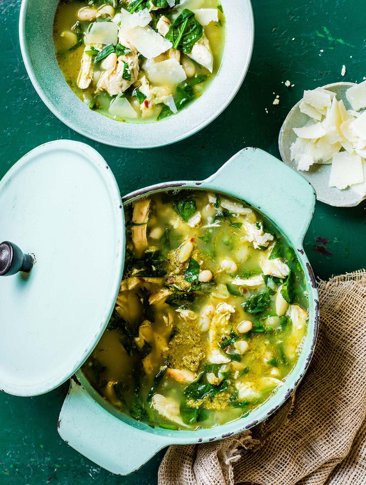 Photo of Pesto chicken soup by WW