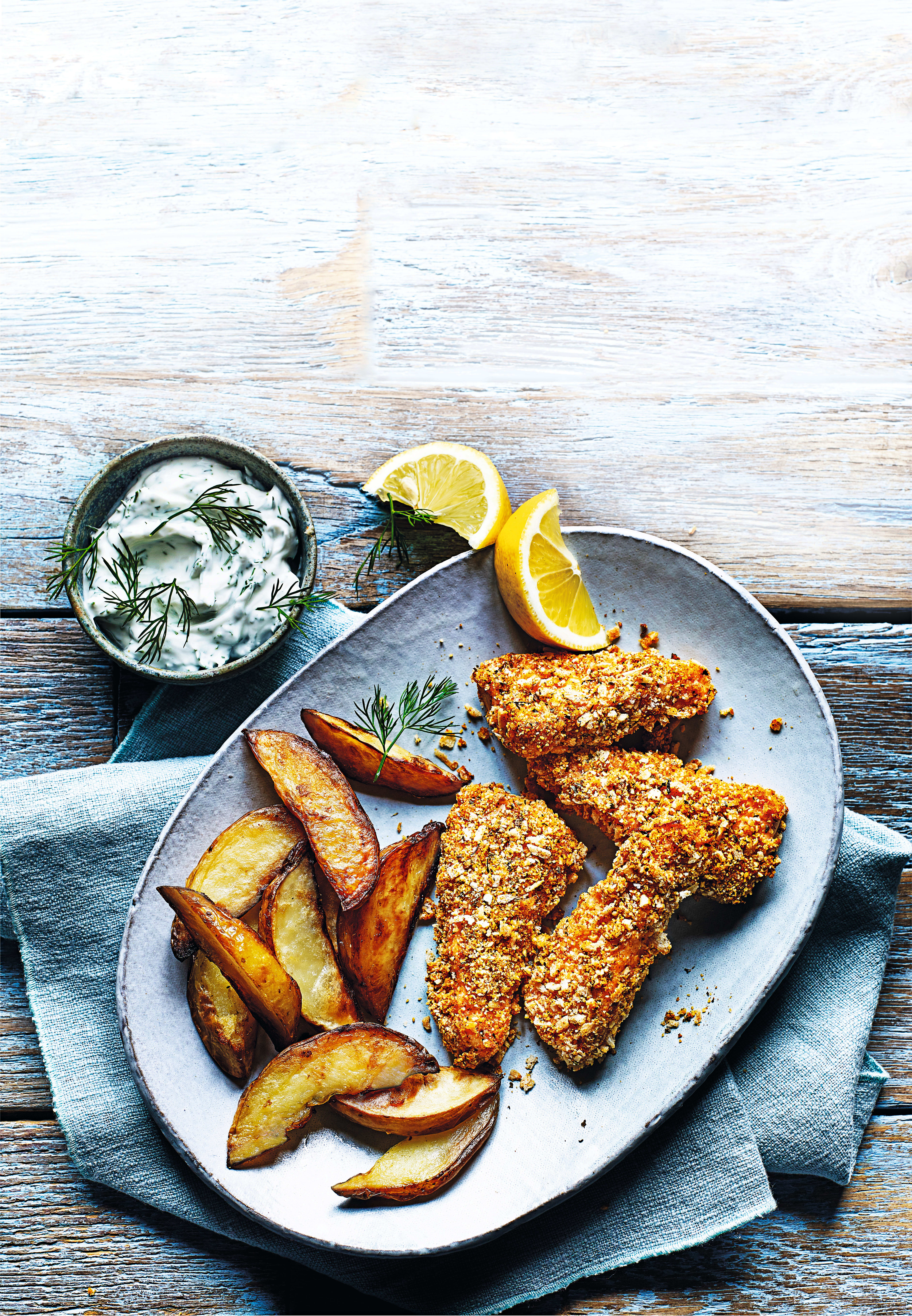 Photo of Salmon fish fingers with chips by WW